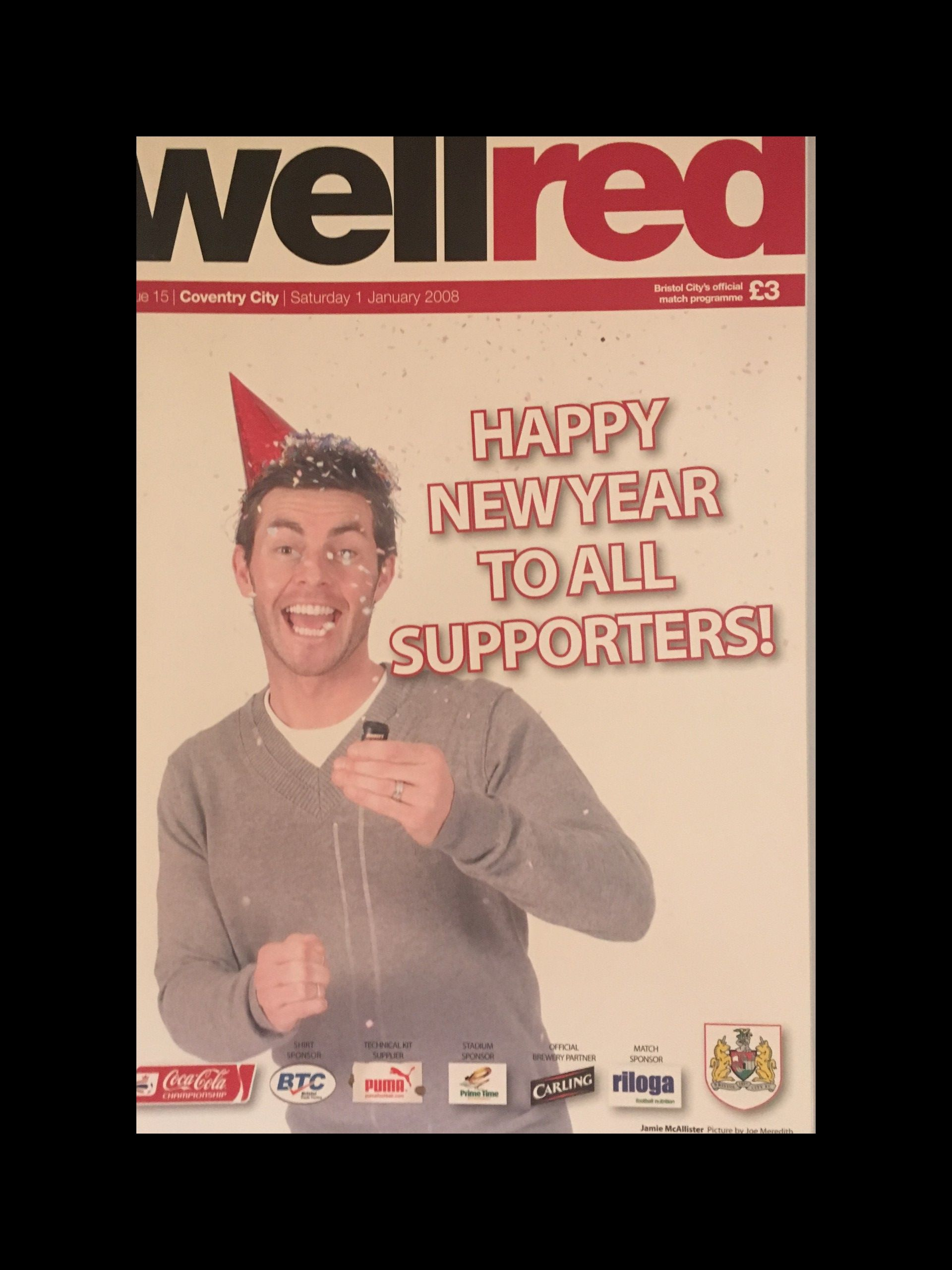 Bristol City v Coventry City 01-01-2008 Programme