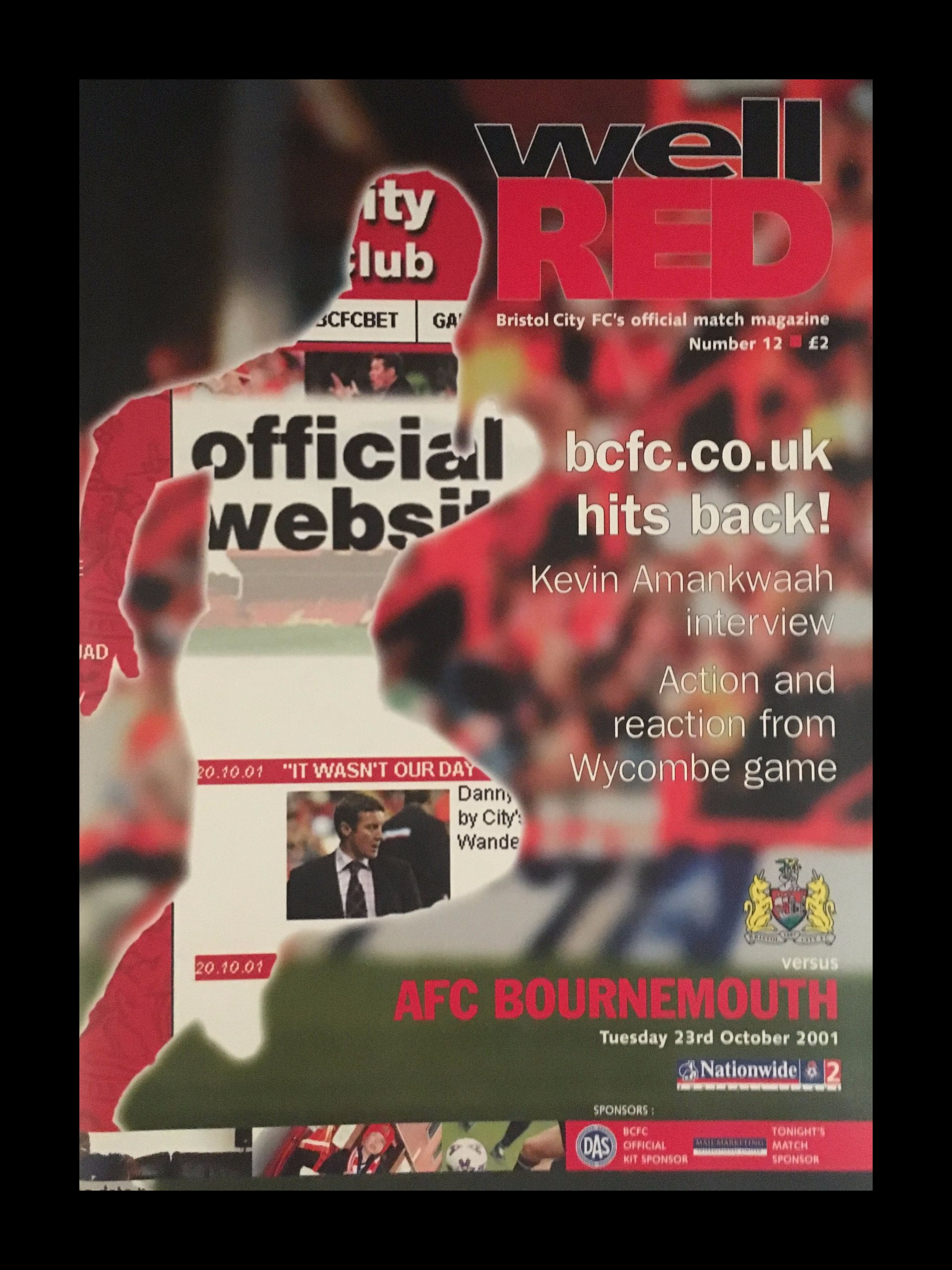 Bristol City v AFC Bournemouth 23-10-2001 Programme