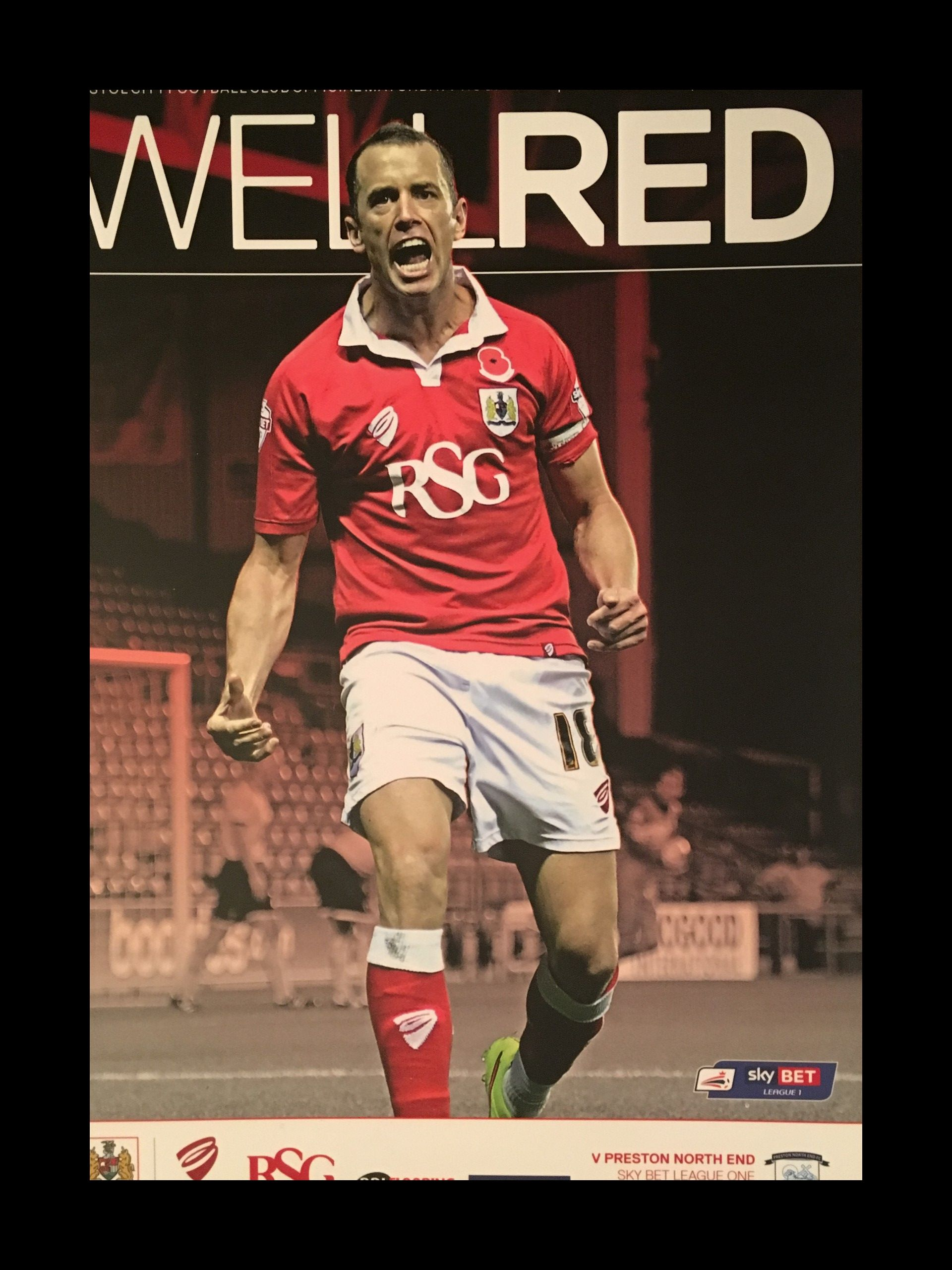 Bristol City v Preston North End 22-11-2014 Programme