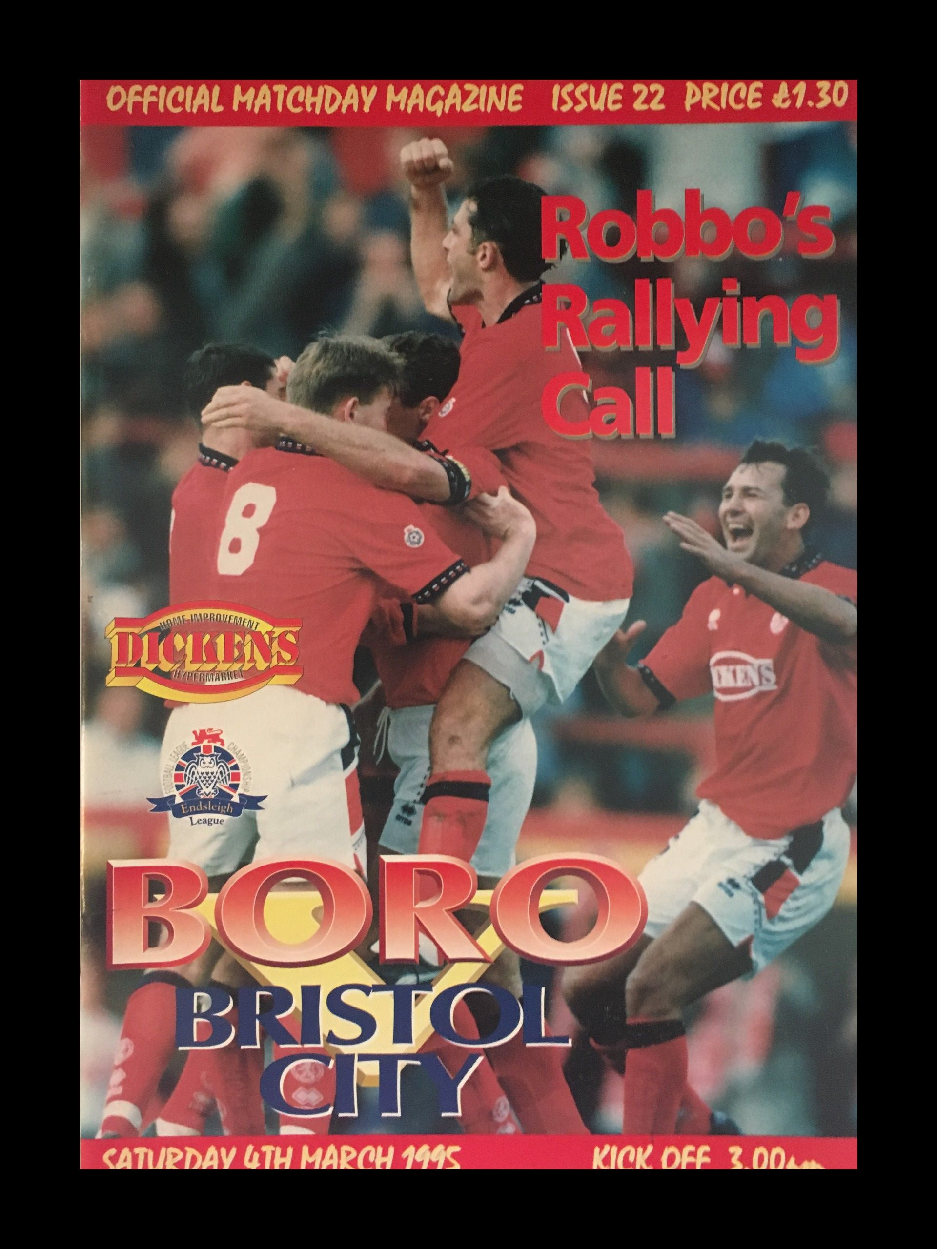 Middlesbrough v Bristol City 04-03-1995 Programme