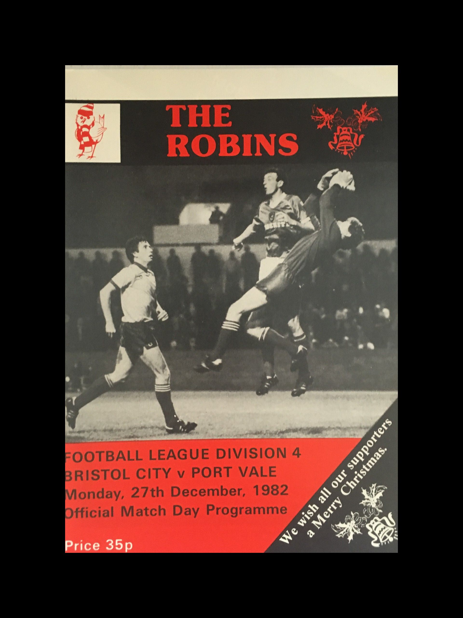 Bristol City v Port Vale 27-12-82 Programme