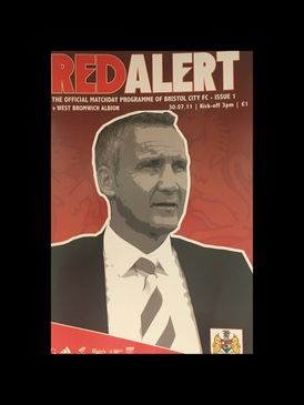 Bristol City v West Brom 30-07-2011 Programme