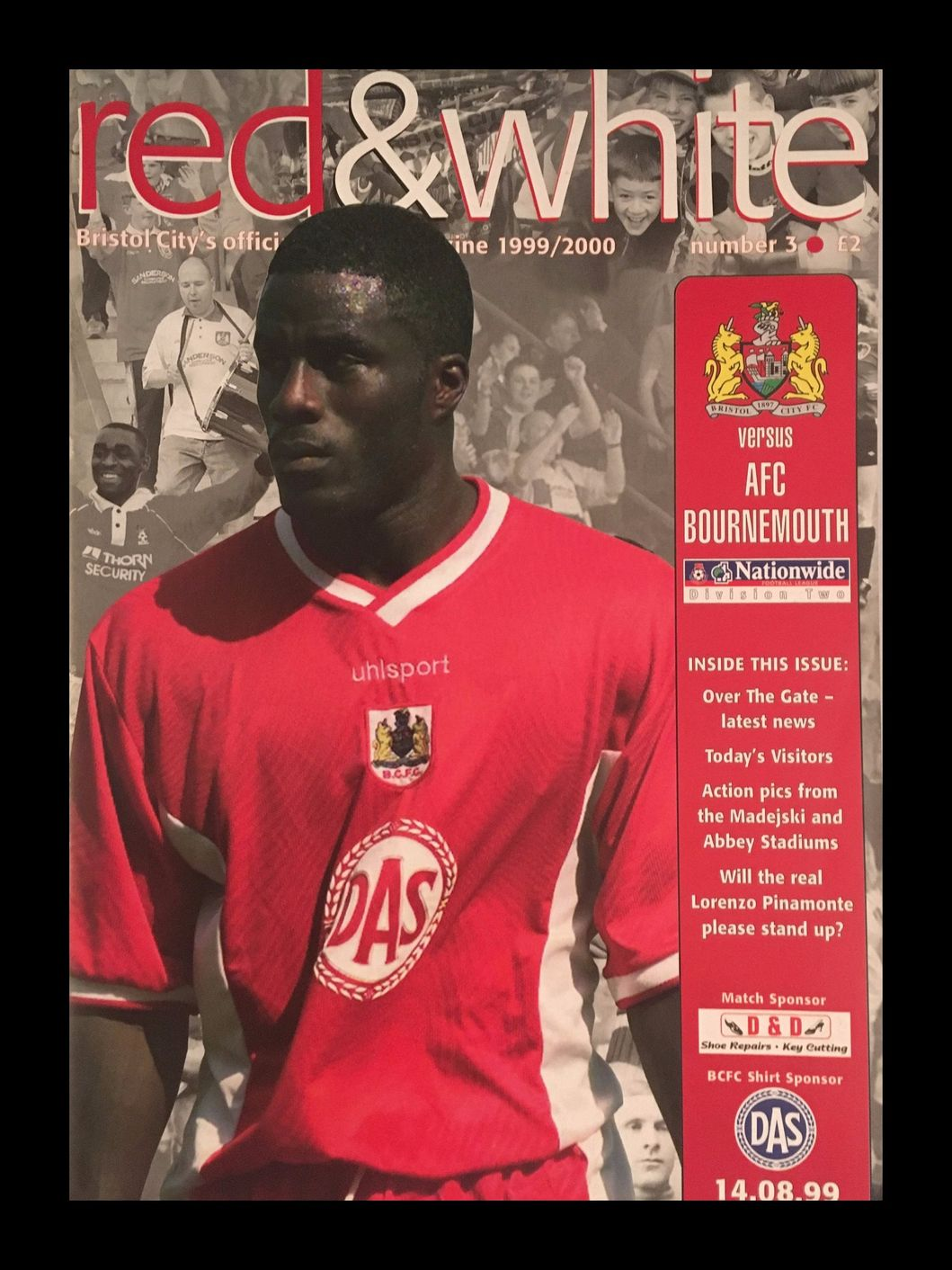 Bristol City v AFC Bournemouth 14-08-1999 Programme