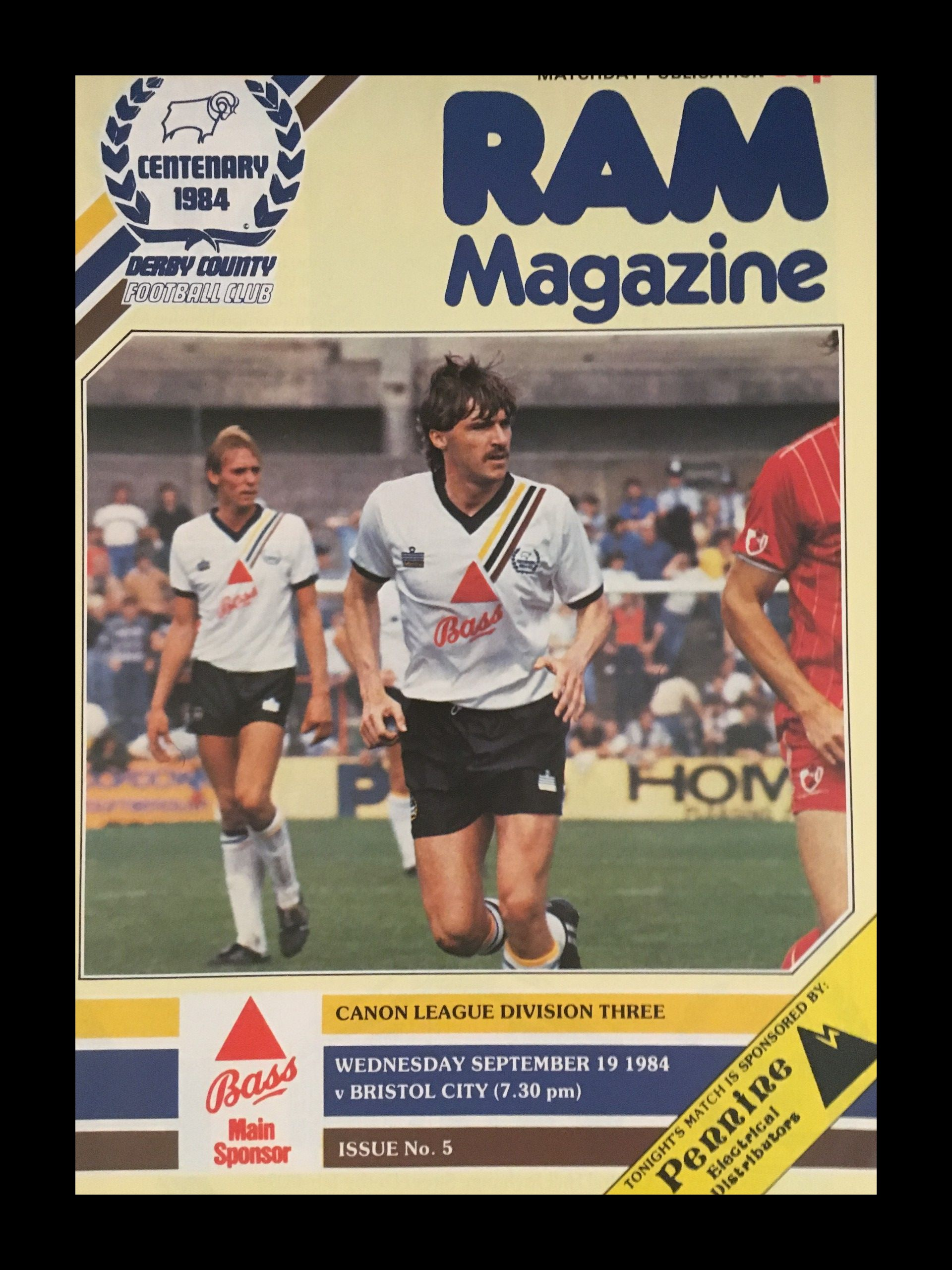 Derby County v Bristol City 19-09-84 Programme