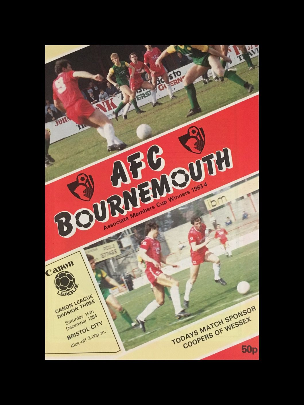AFC Bournemouth v Bristol City 15-12-84 Programme