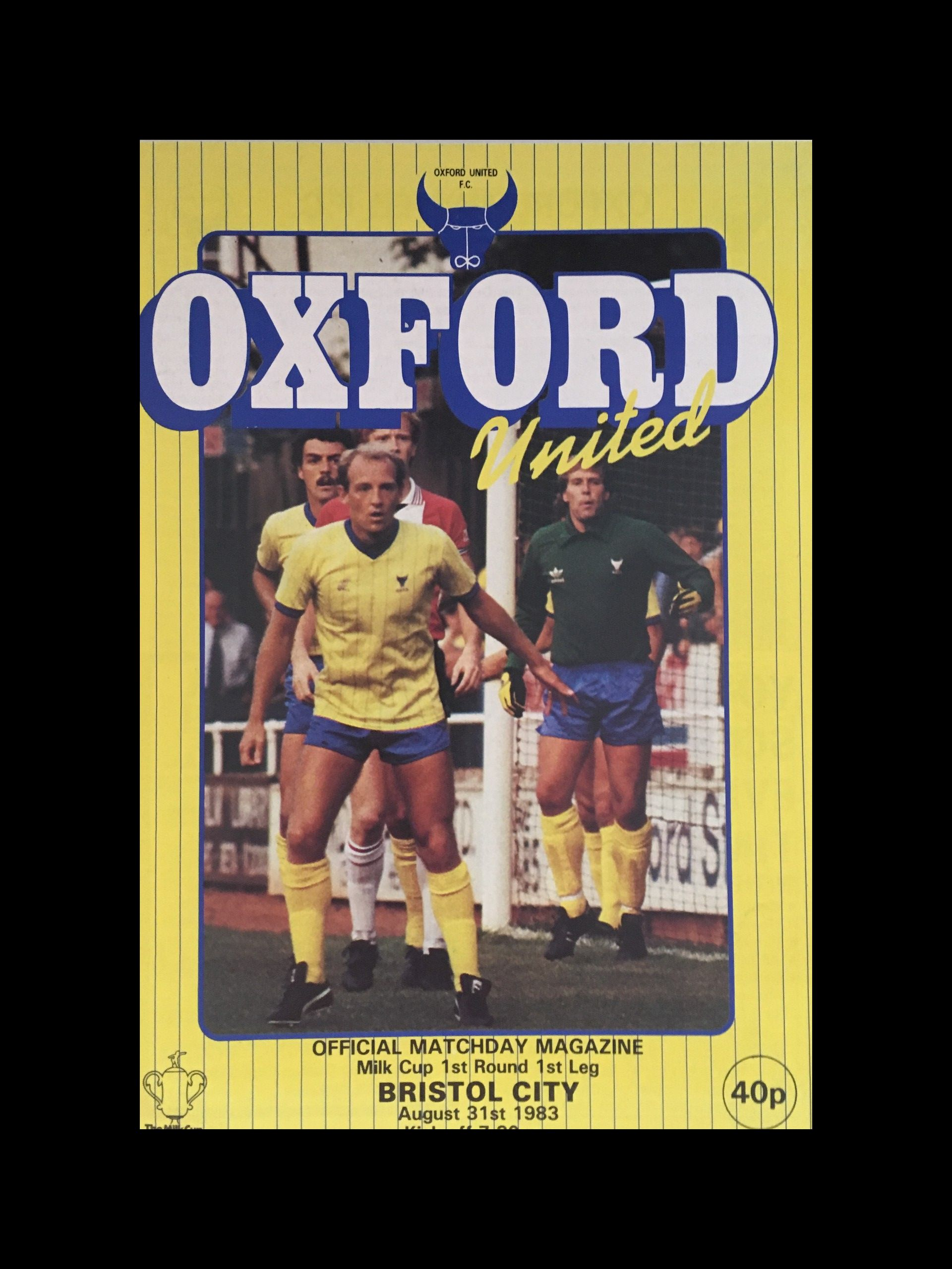 Oxford United v Bristol City 31-08-83 Programme