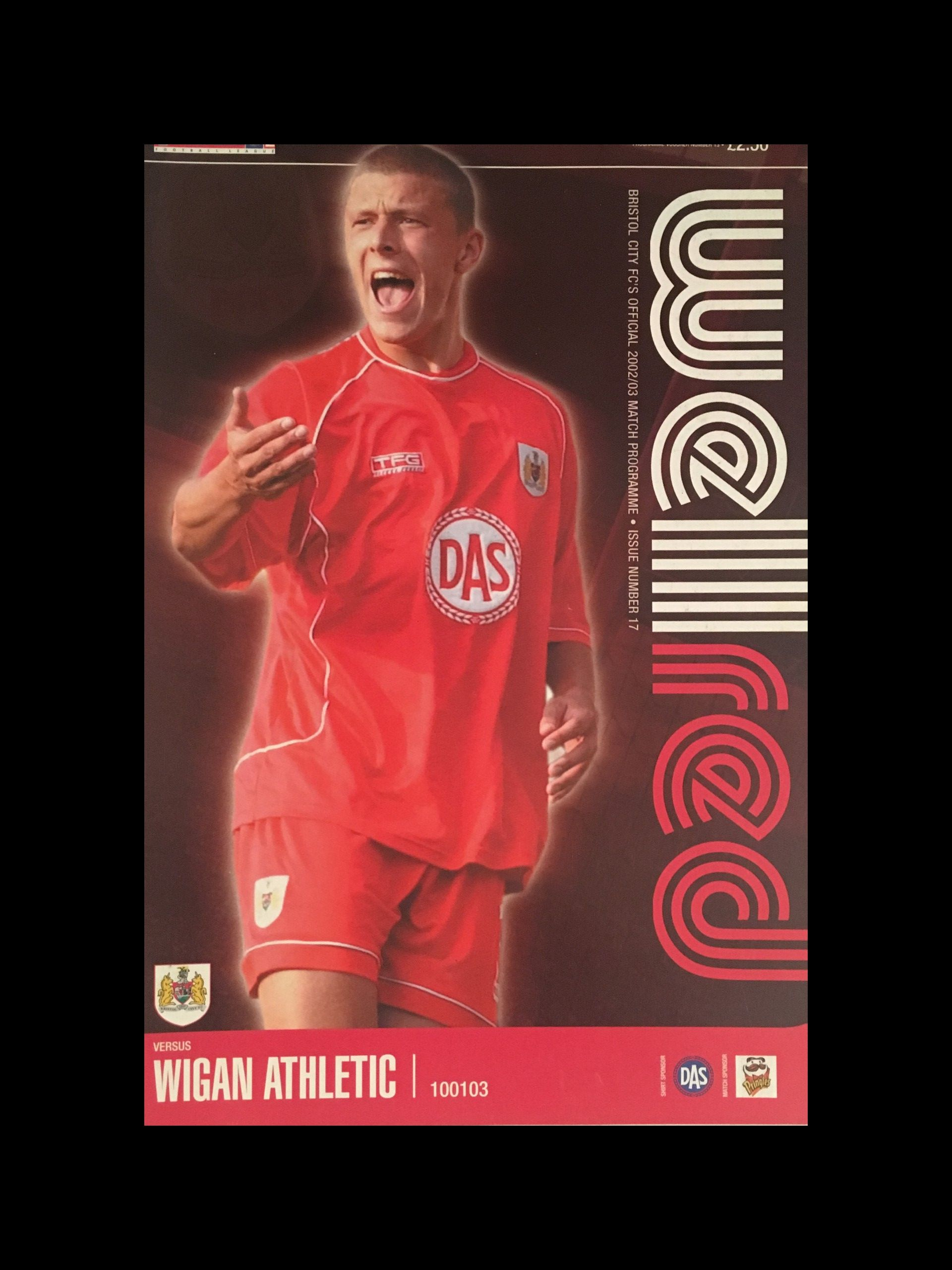 Bristol City v Wigan Athletic 10-01-2003 Programme