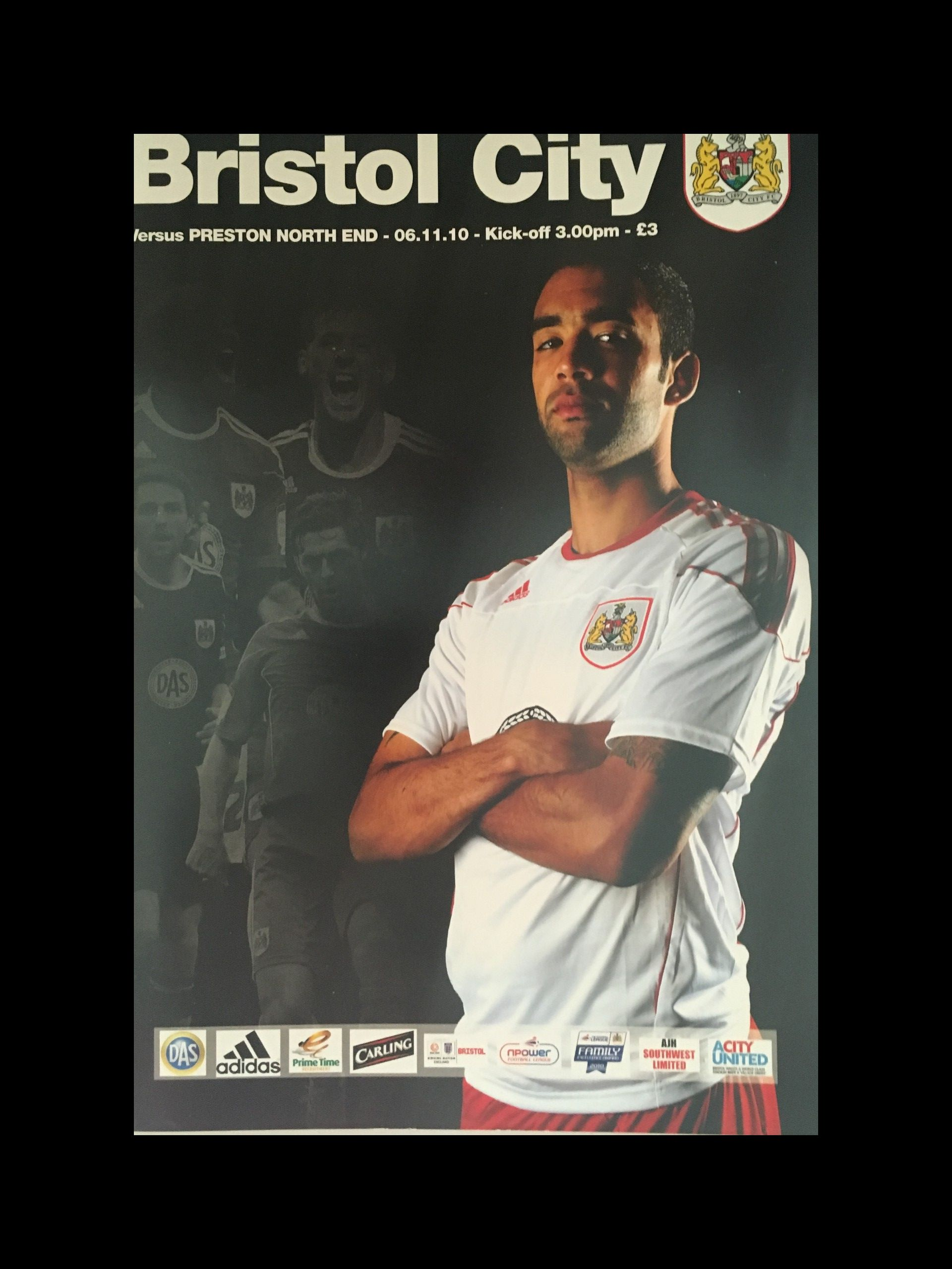 Bristol City v Preston North End 06-11-2010 Programme