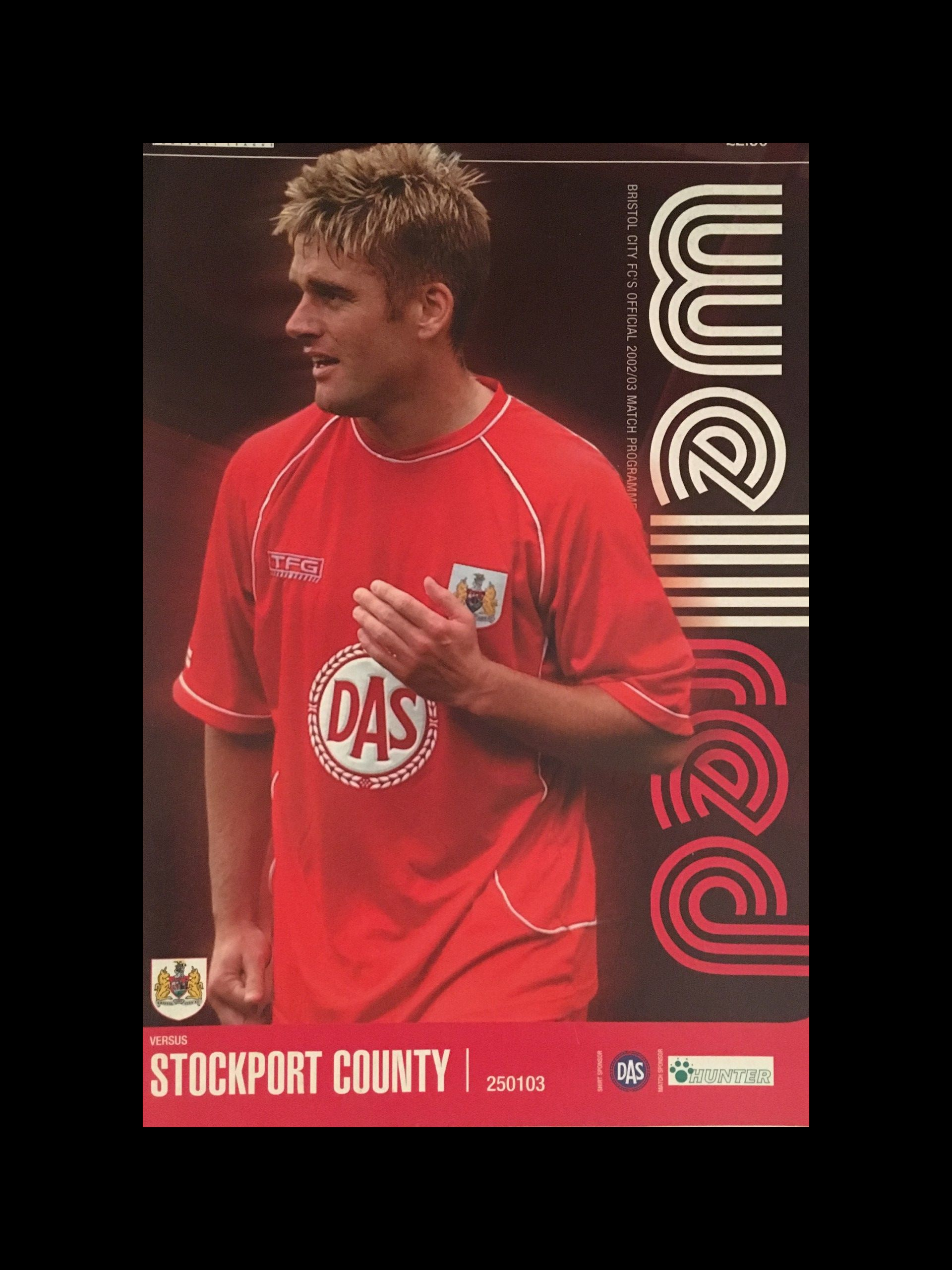 Bristol City v Stockport County 25-01-2003 Programme