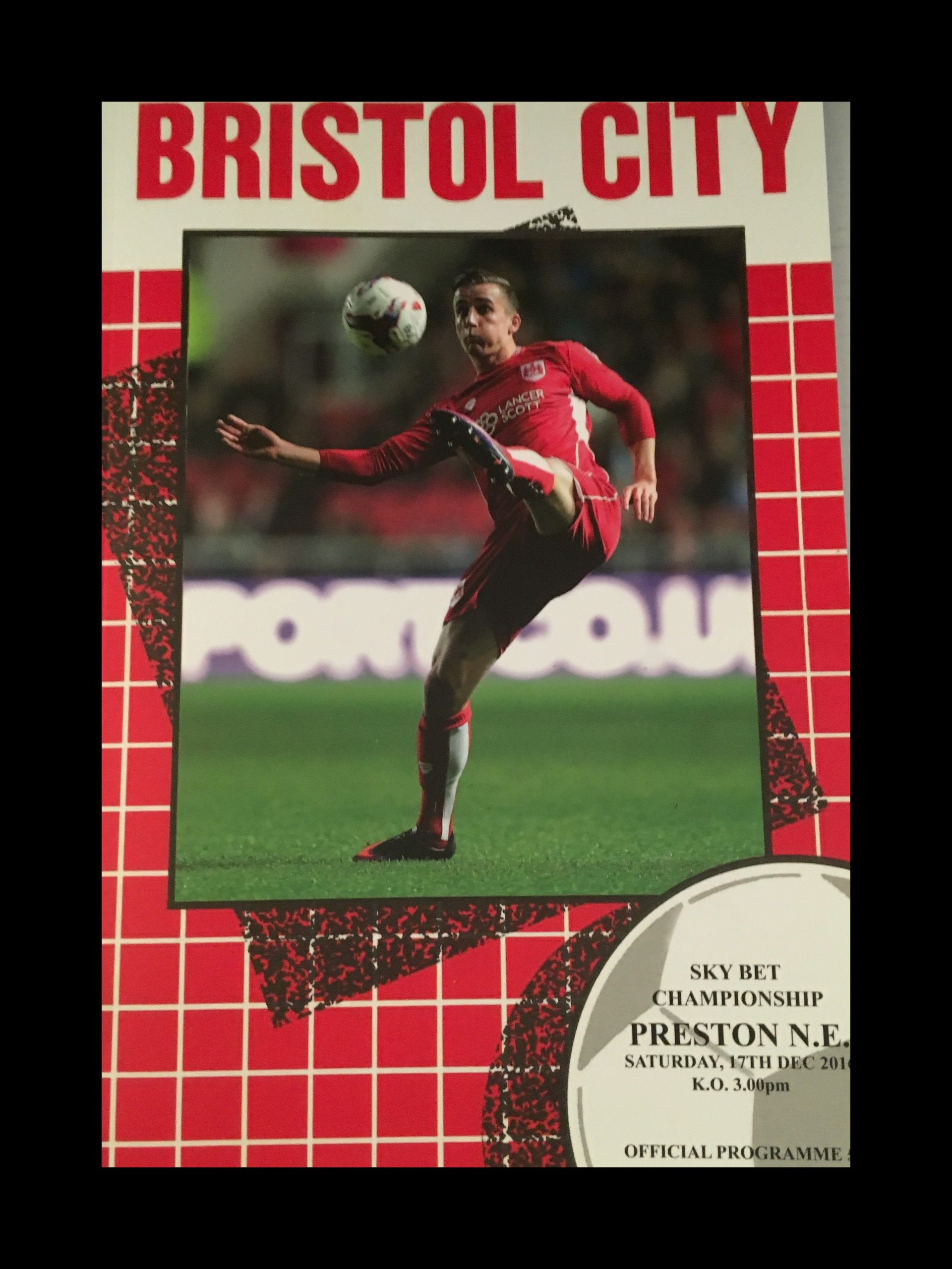 Bristol City v Preston North End 17-12-2016 Programme