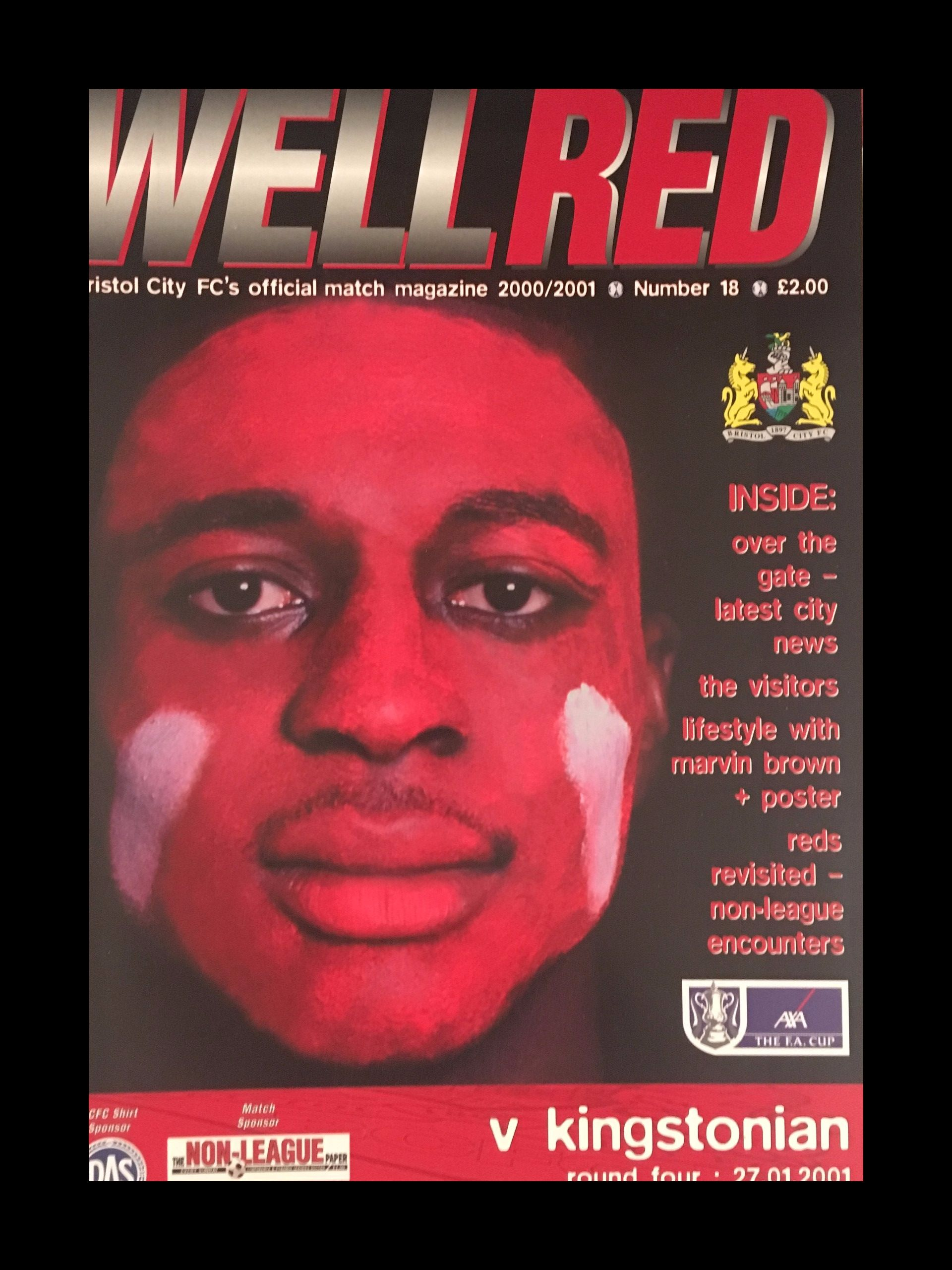 Bristol City v Kingstonian 27-01-2001 Programme