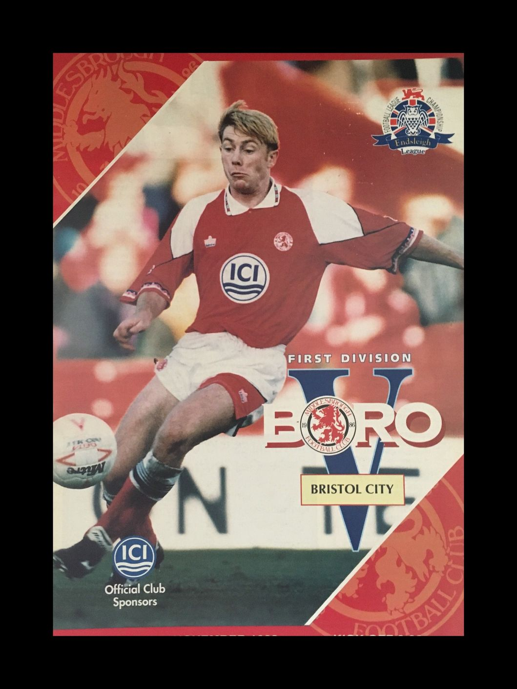 Middlesbrough v Bristol City 06-11-1993 Programme