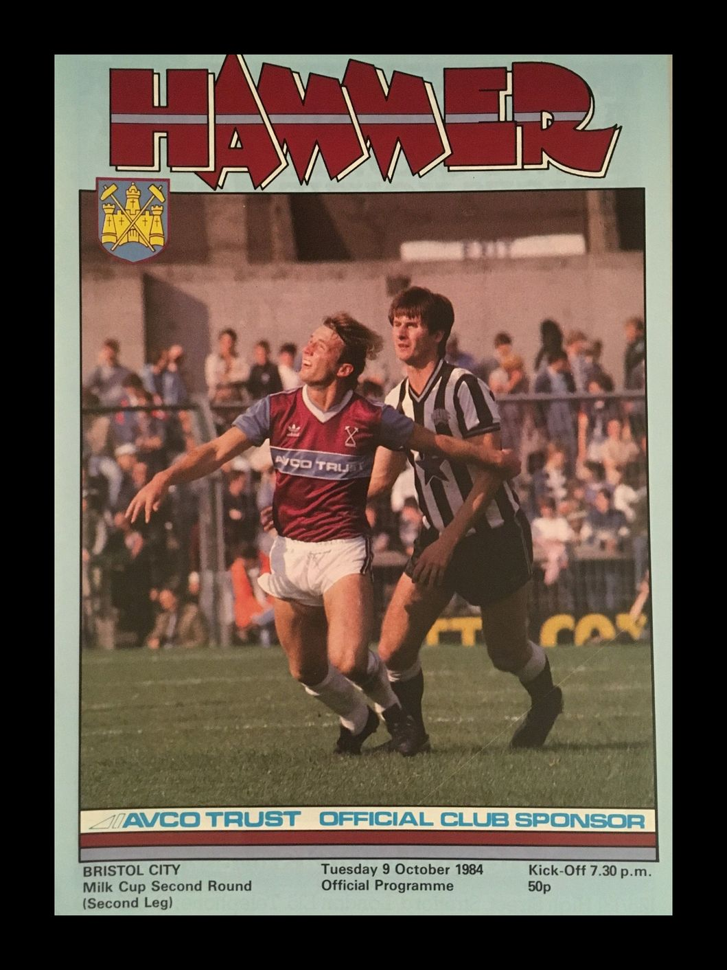 West Ham United v Bristol City 09-10-84 Programme