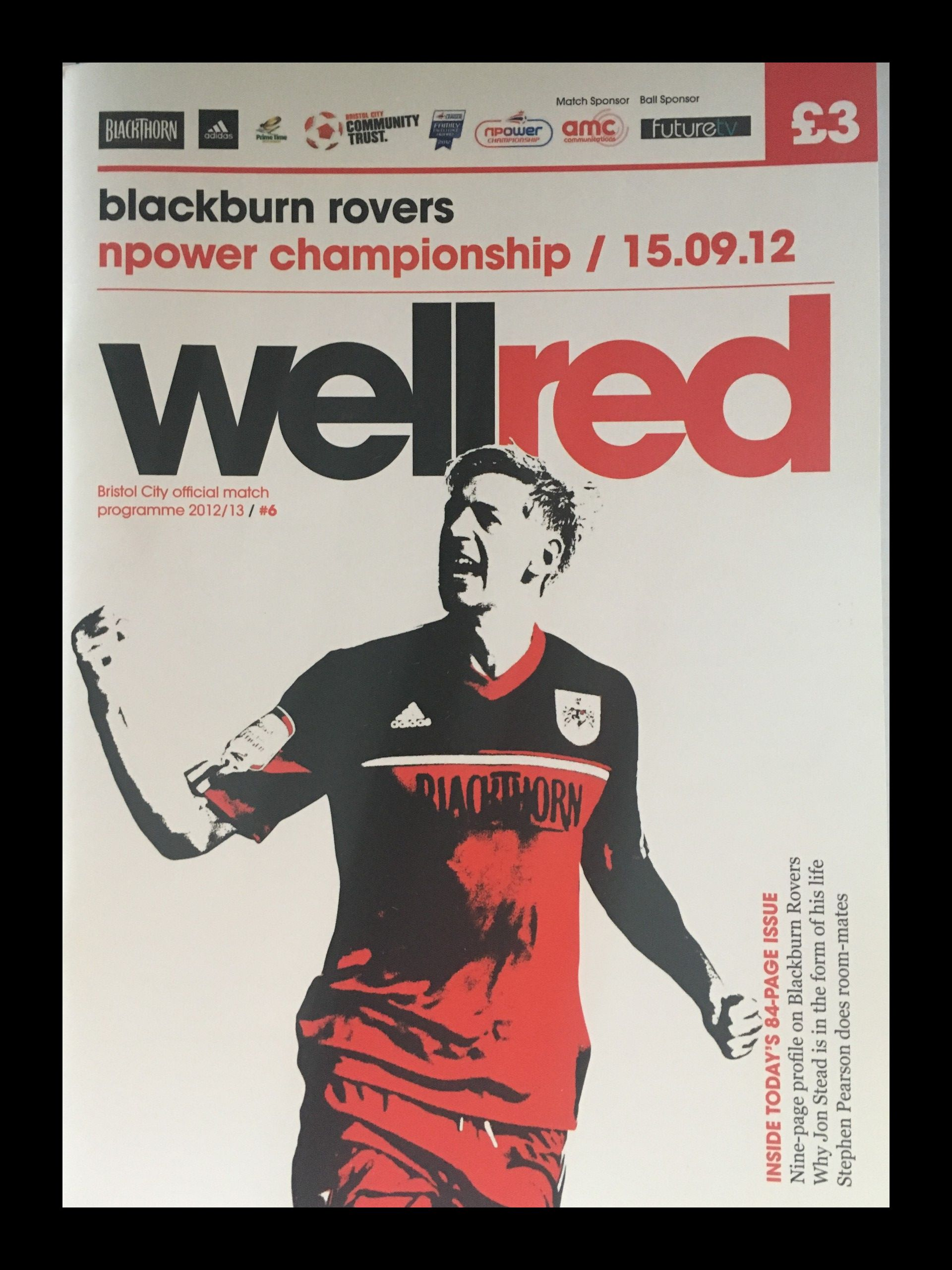 Bristol City v Blackburn Rovers 15-09-2012 Programme