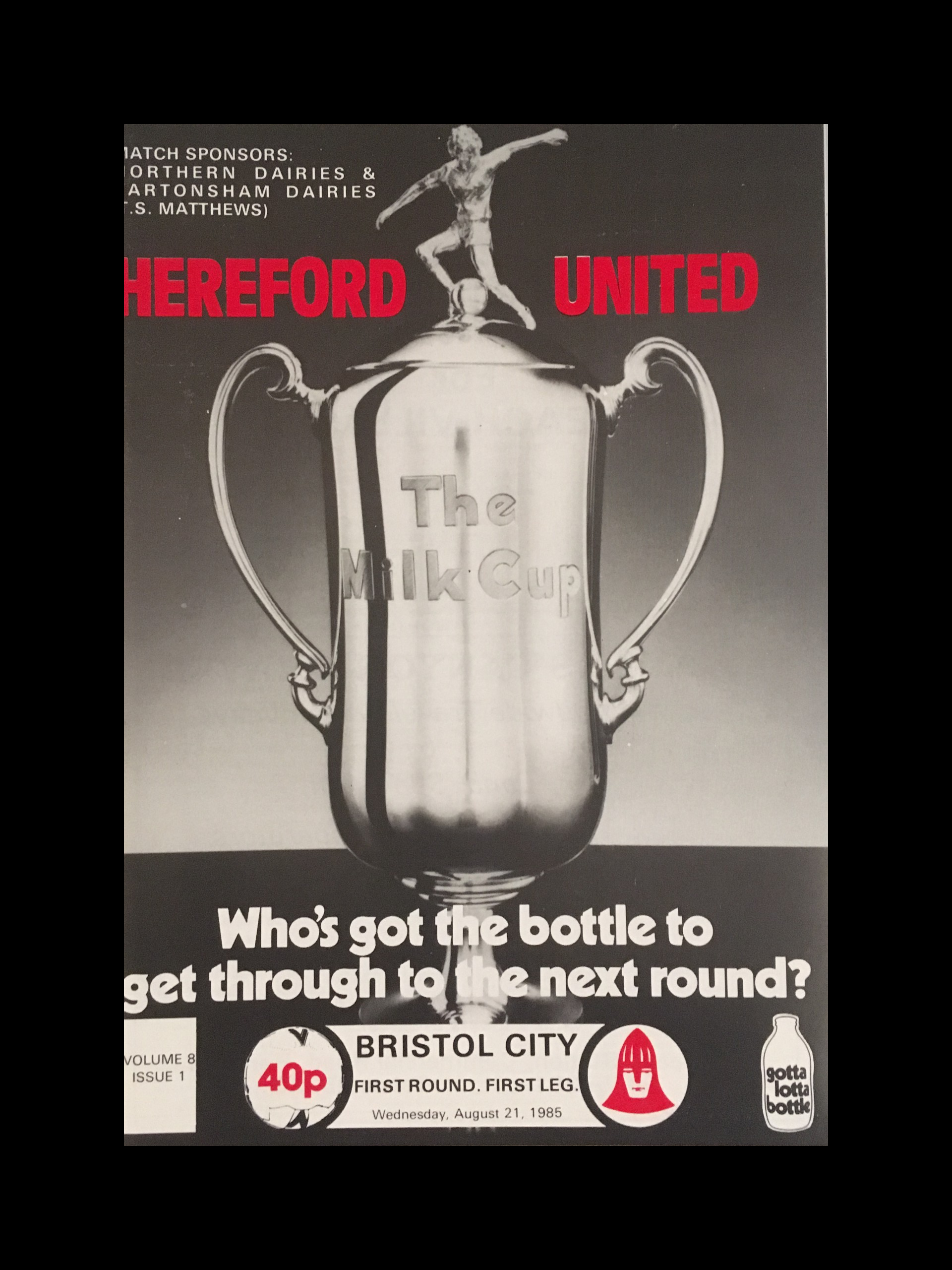 Hereford United v Bristol City 21-08-85 Programme