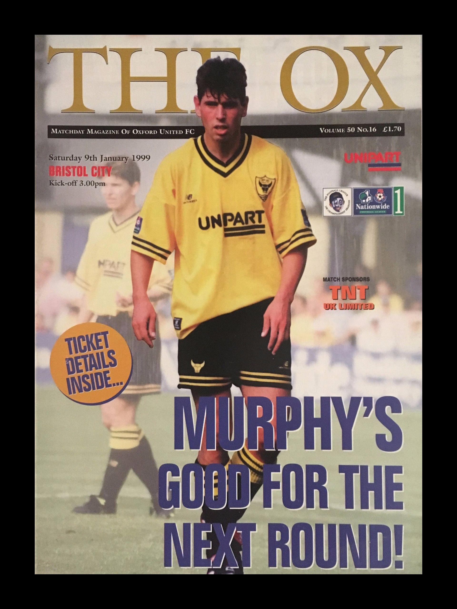 Oxford United v Bristol City 09-01-1999 Programme