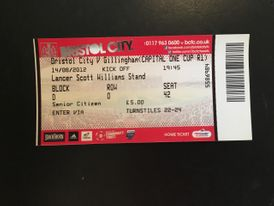 Bristol City v Gillingham 14-08-12 Ticket