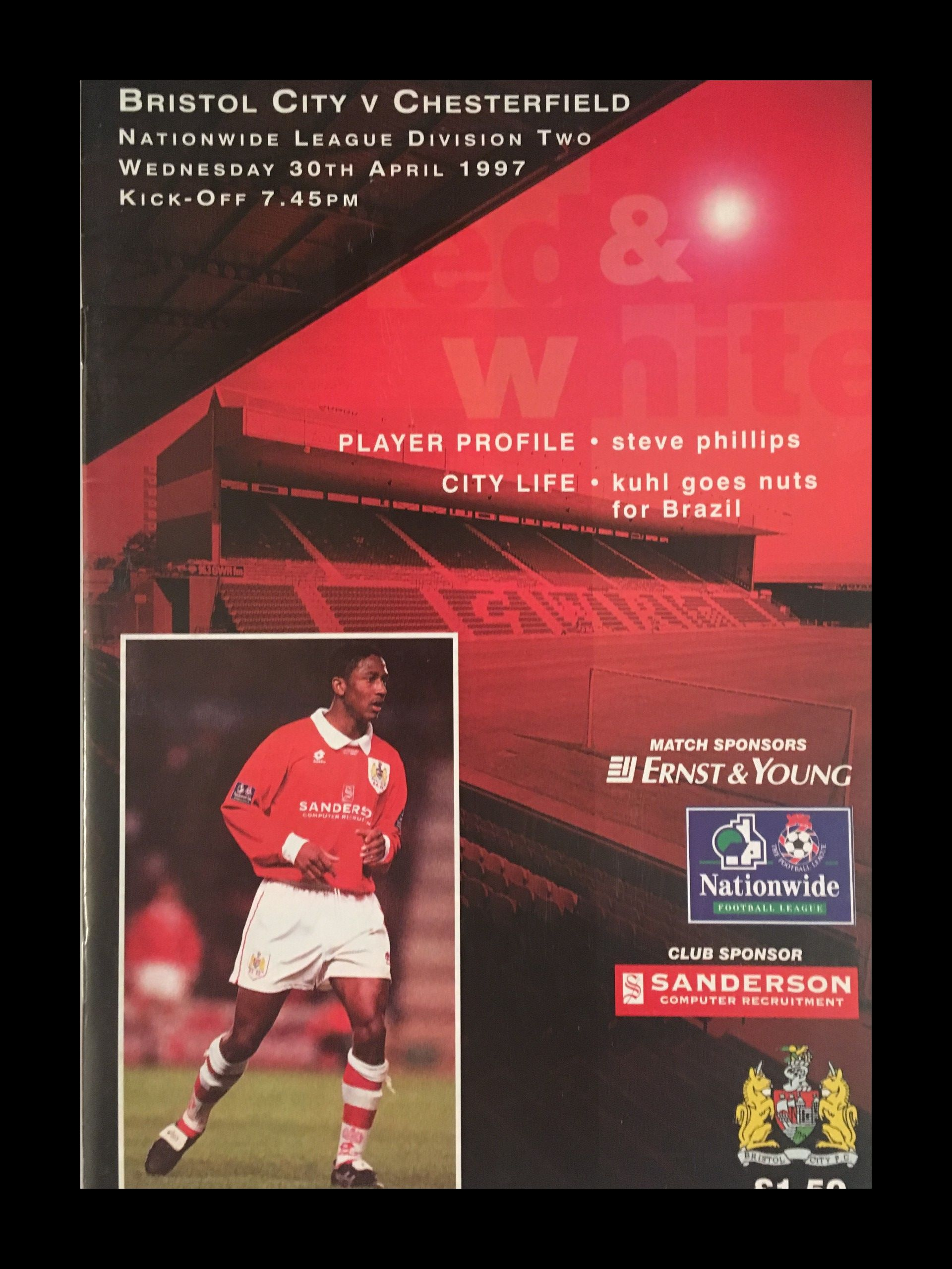 Bristol City v Chesterfield 30-04-1997 Programme