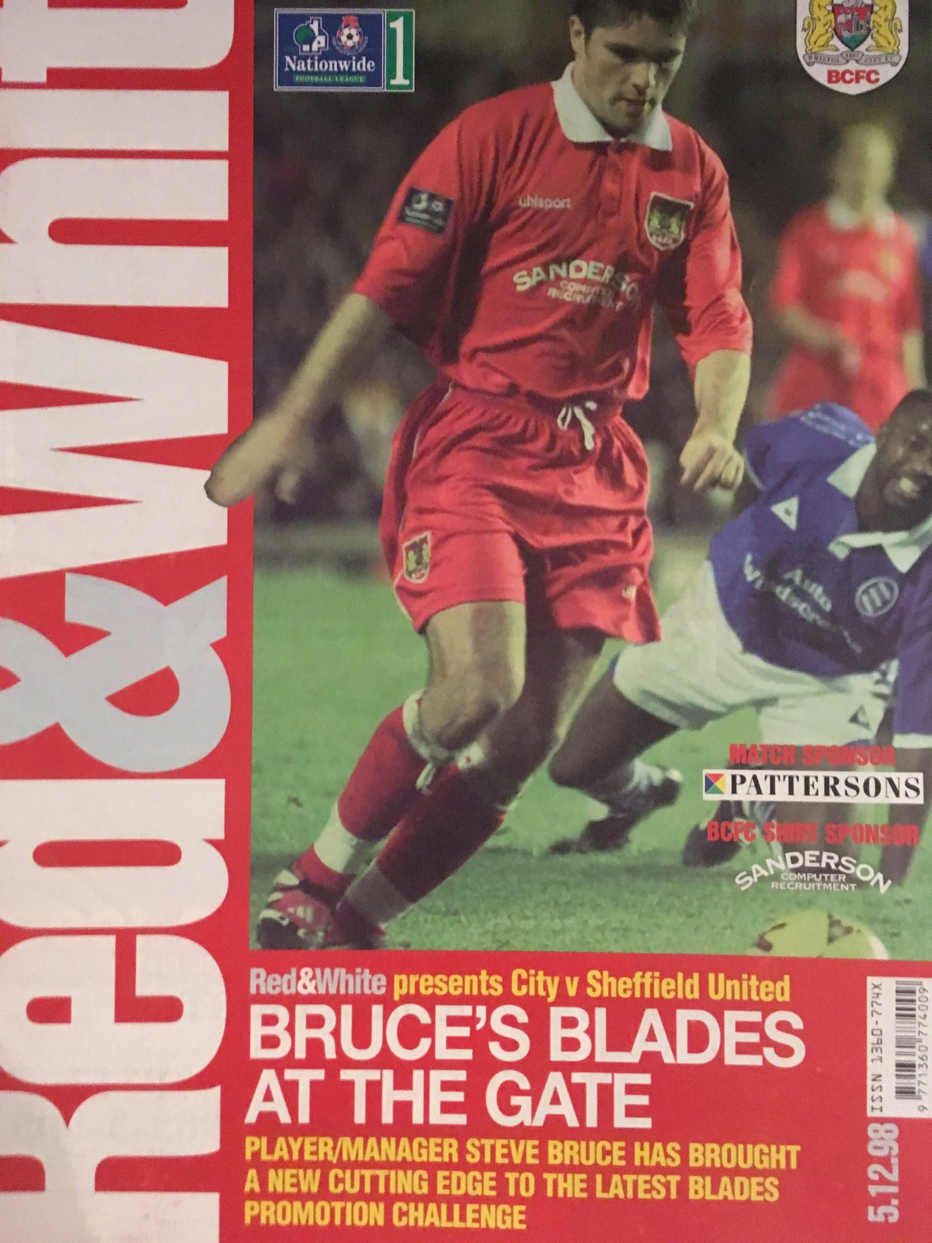Bristol City v Sheffield United 05-12-1998 Programme