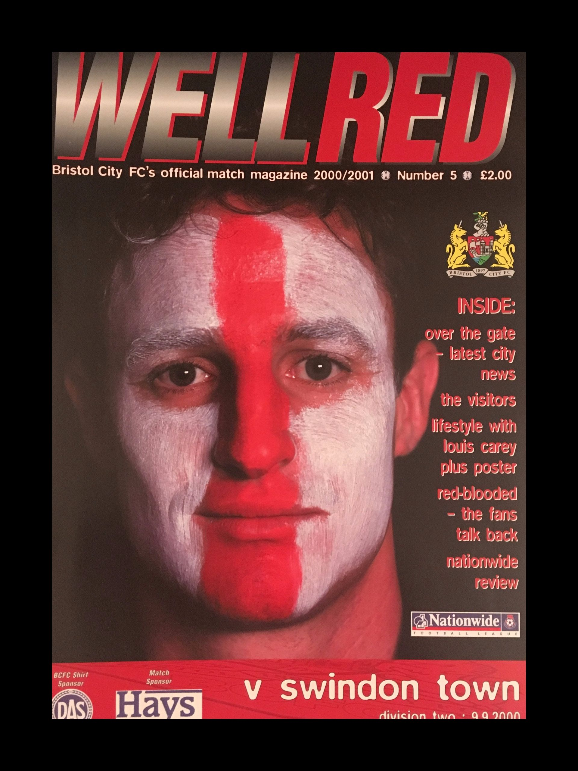 Bristol City v Swindon Town 09-09-2000 Programme