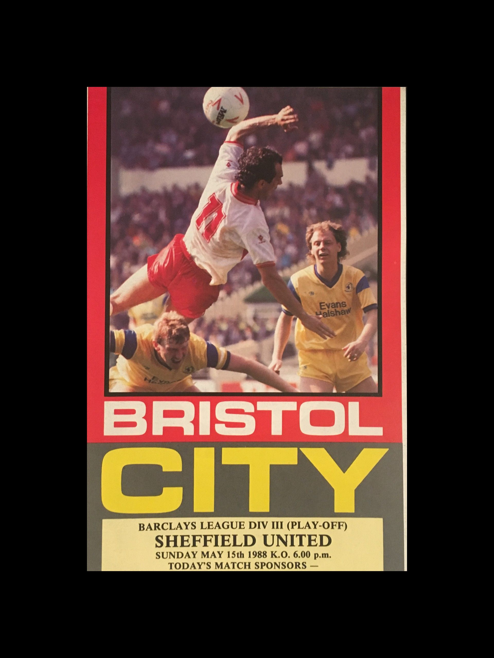 Bristol City v Sheffield United 15-05-1988 Programme