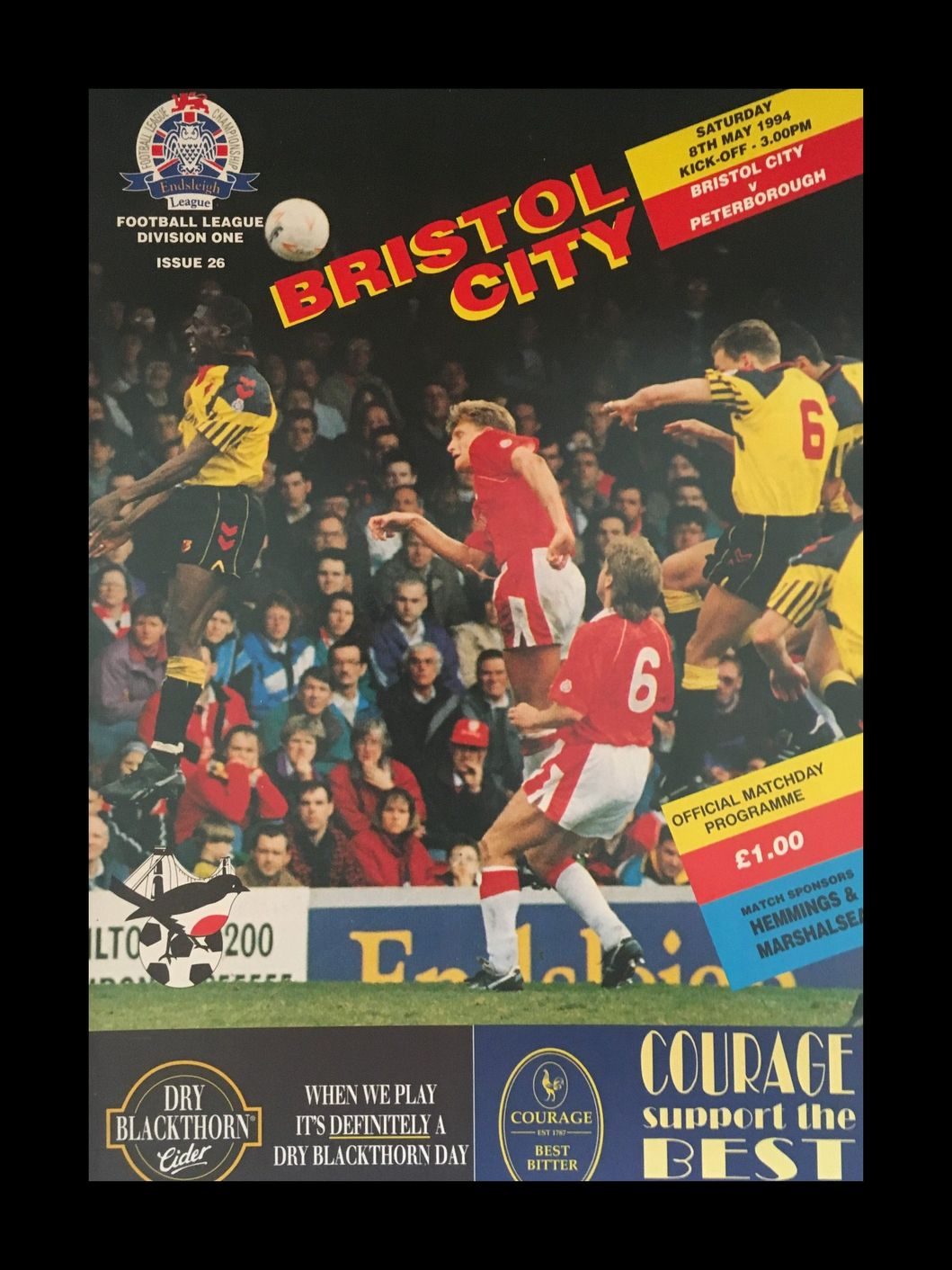 Bristol City v Peterborough United 08-05-1994 Programme