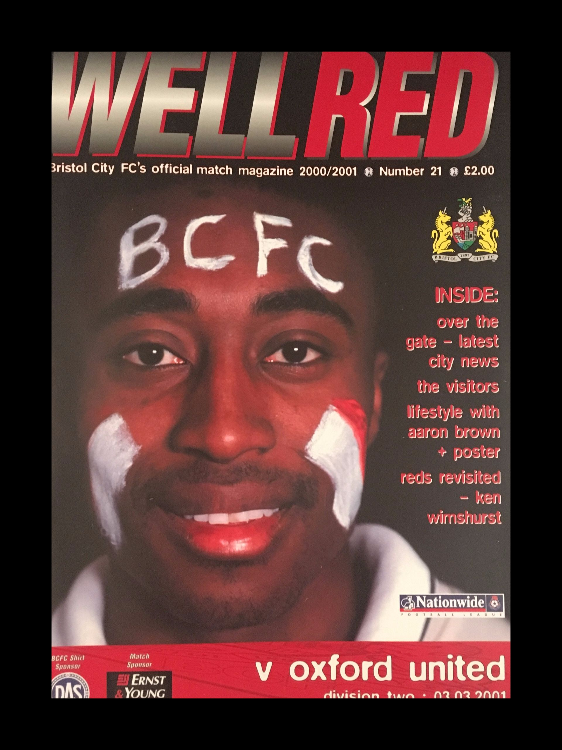 Bristol City v Oxford United 03-03-2001 Programme