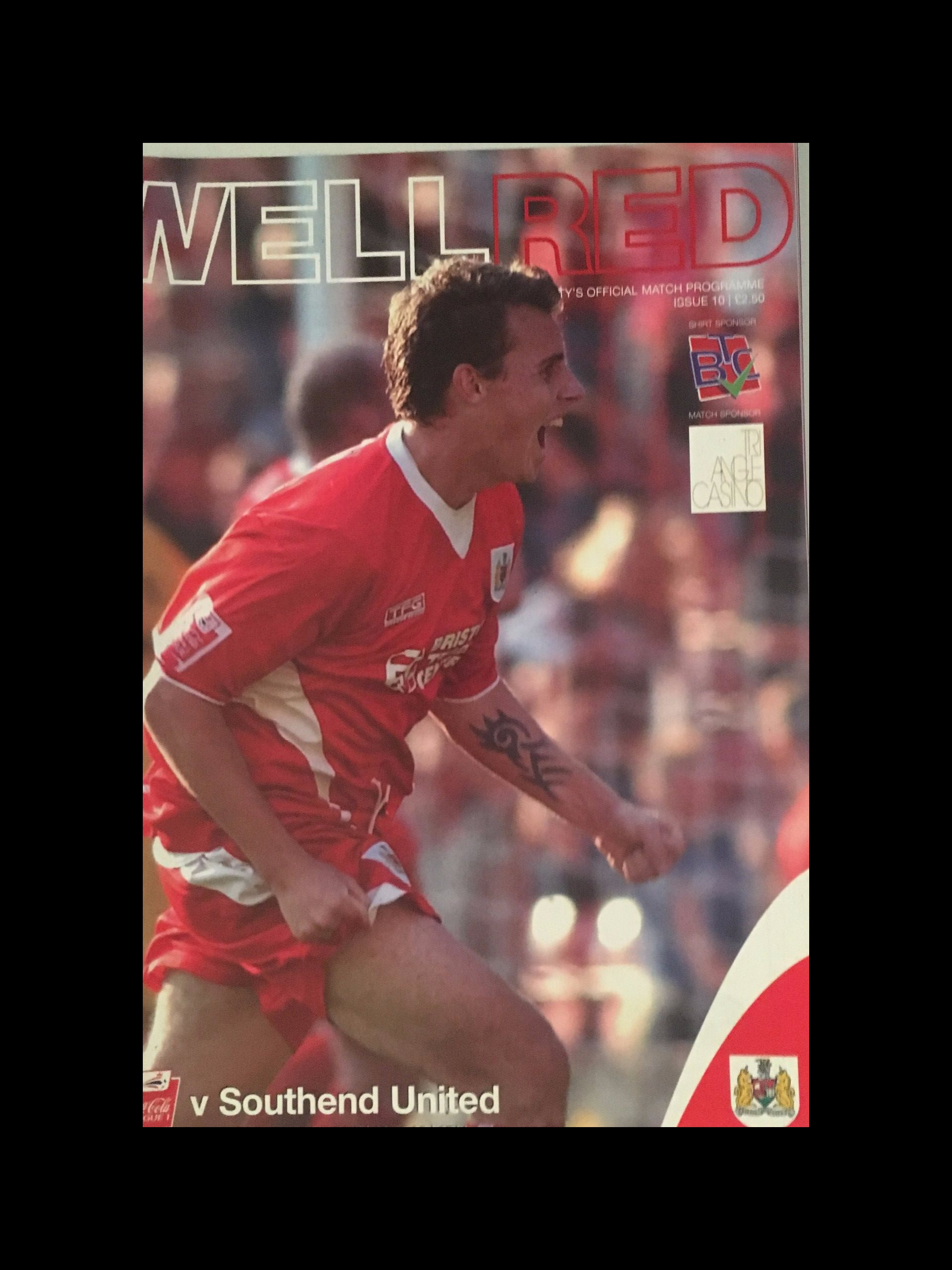 Bristol City v Southend United 29-10-2005 Programme