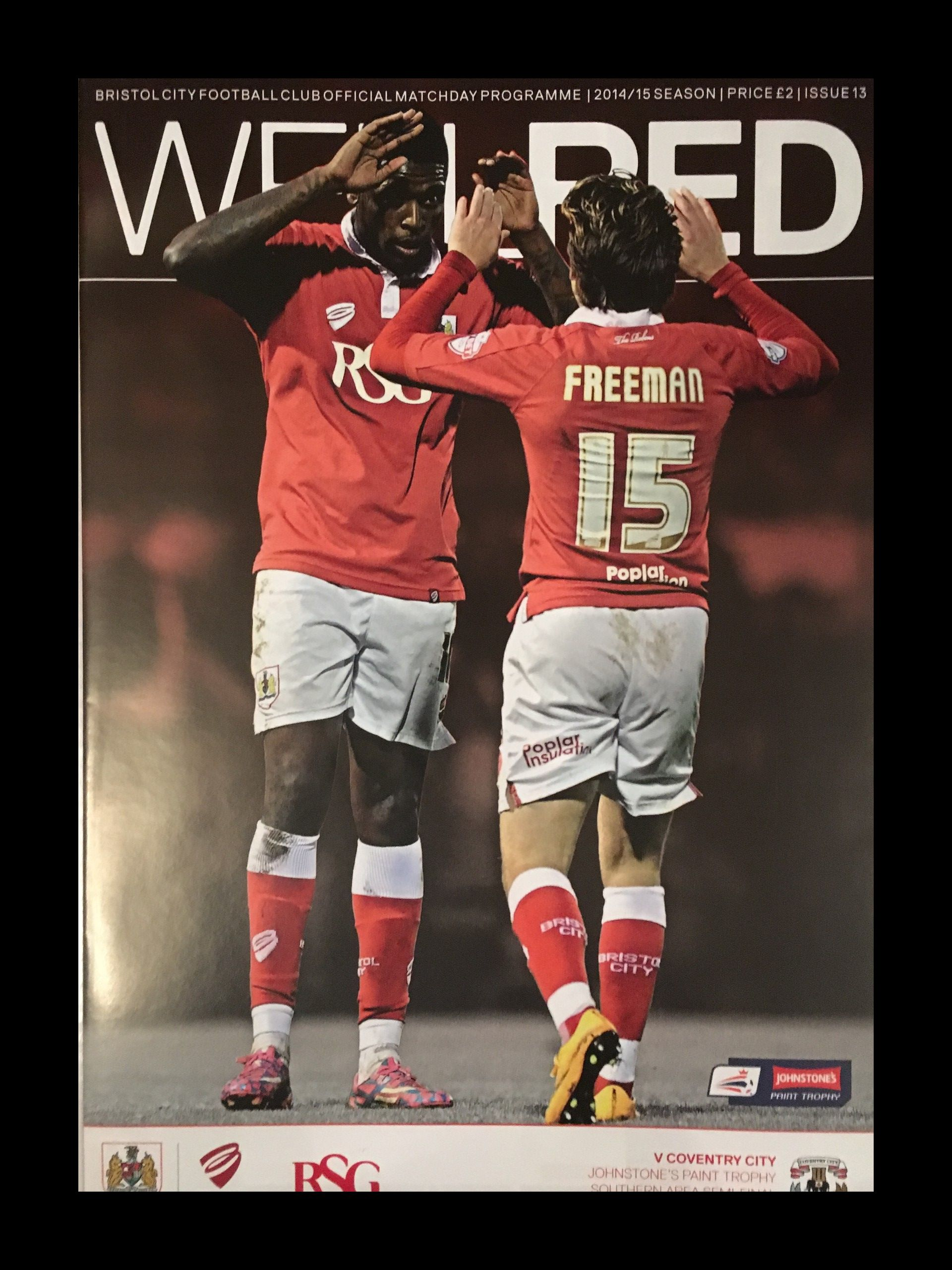 Bristol City v Coventry City 10-12-2014 Programme