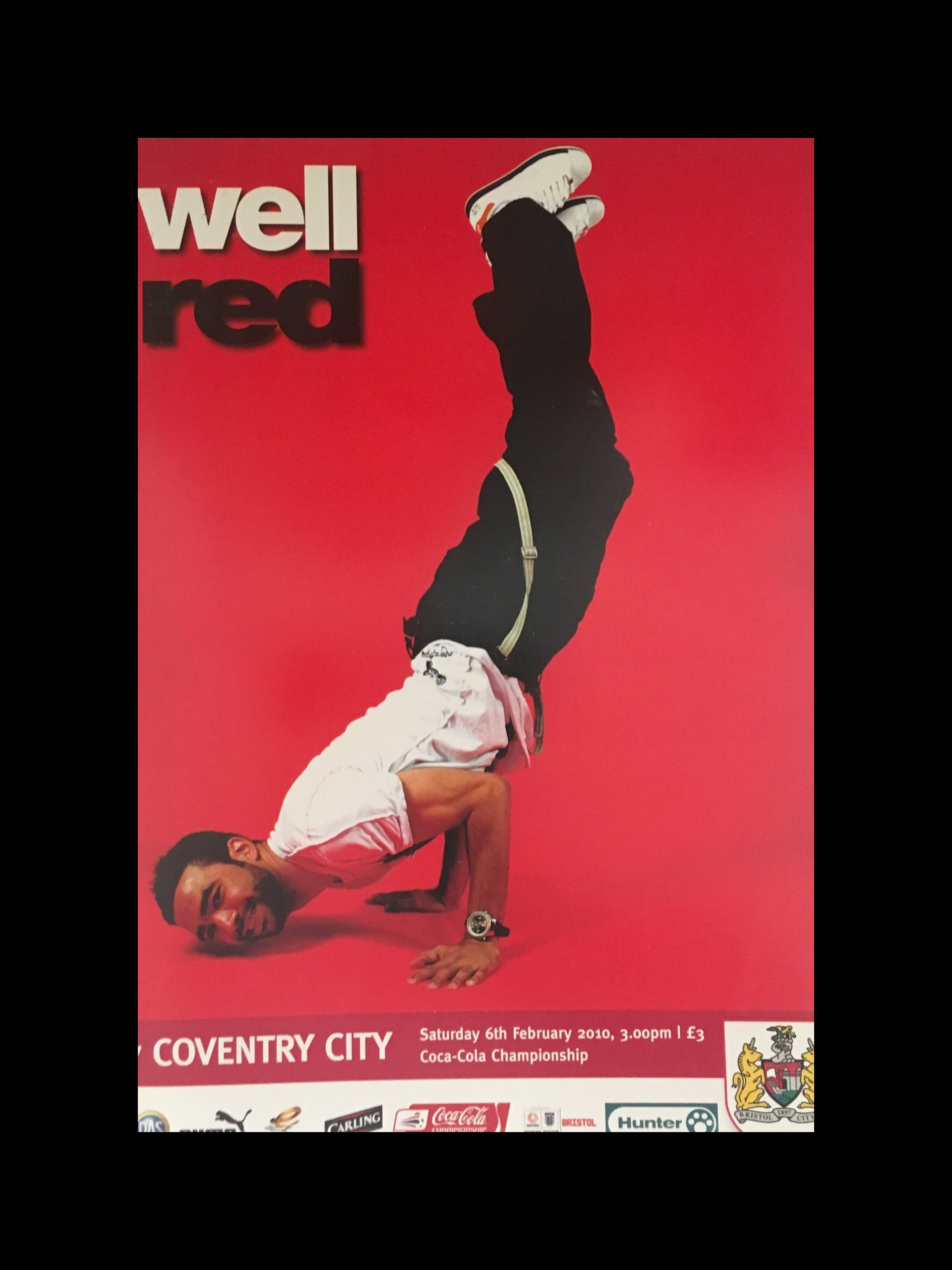 Bristol City v Coventry City 06-02-2010 Programme