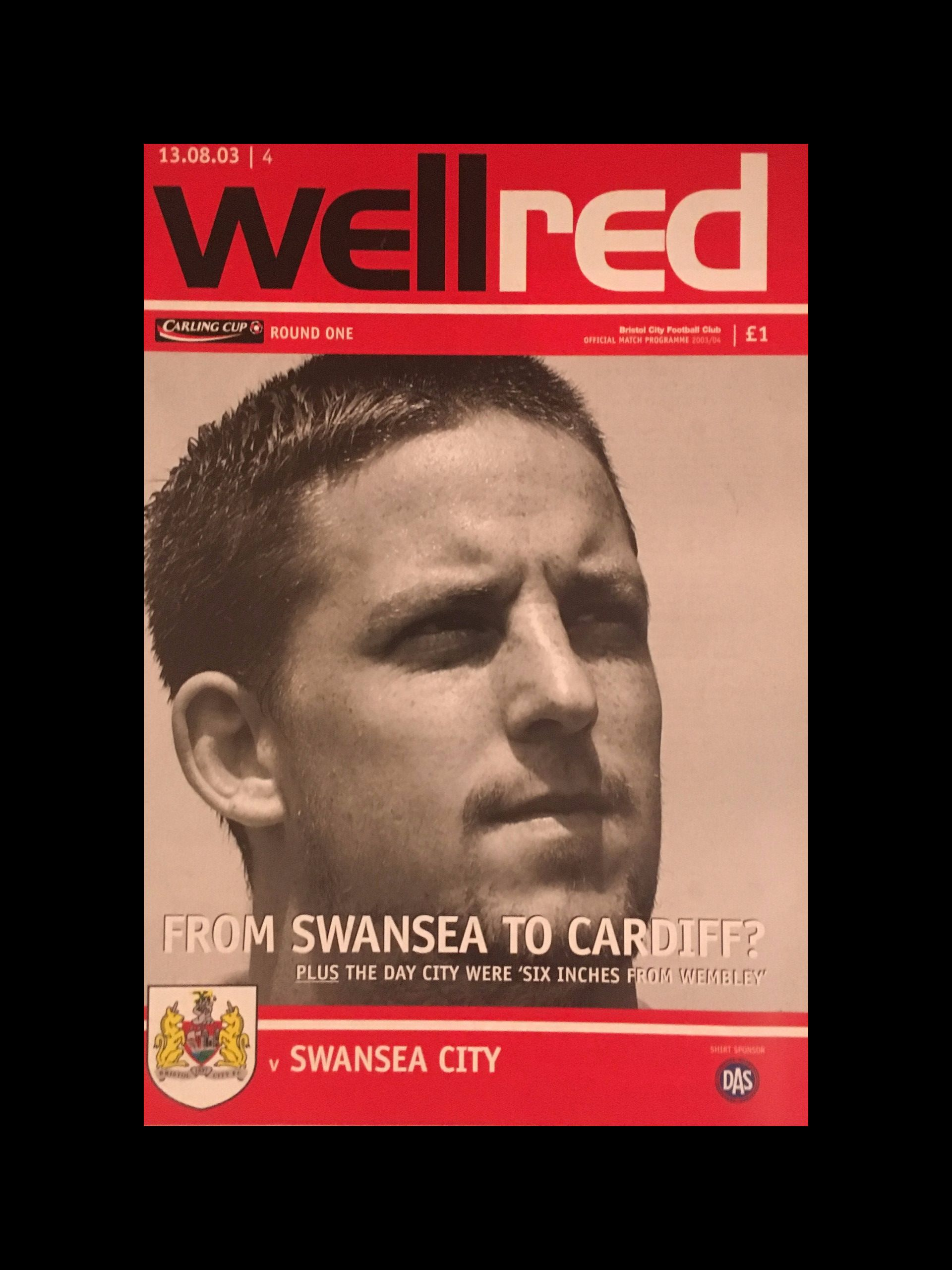 Bristol City v Swansea City 13-08-2003 Programme
