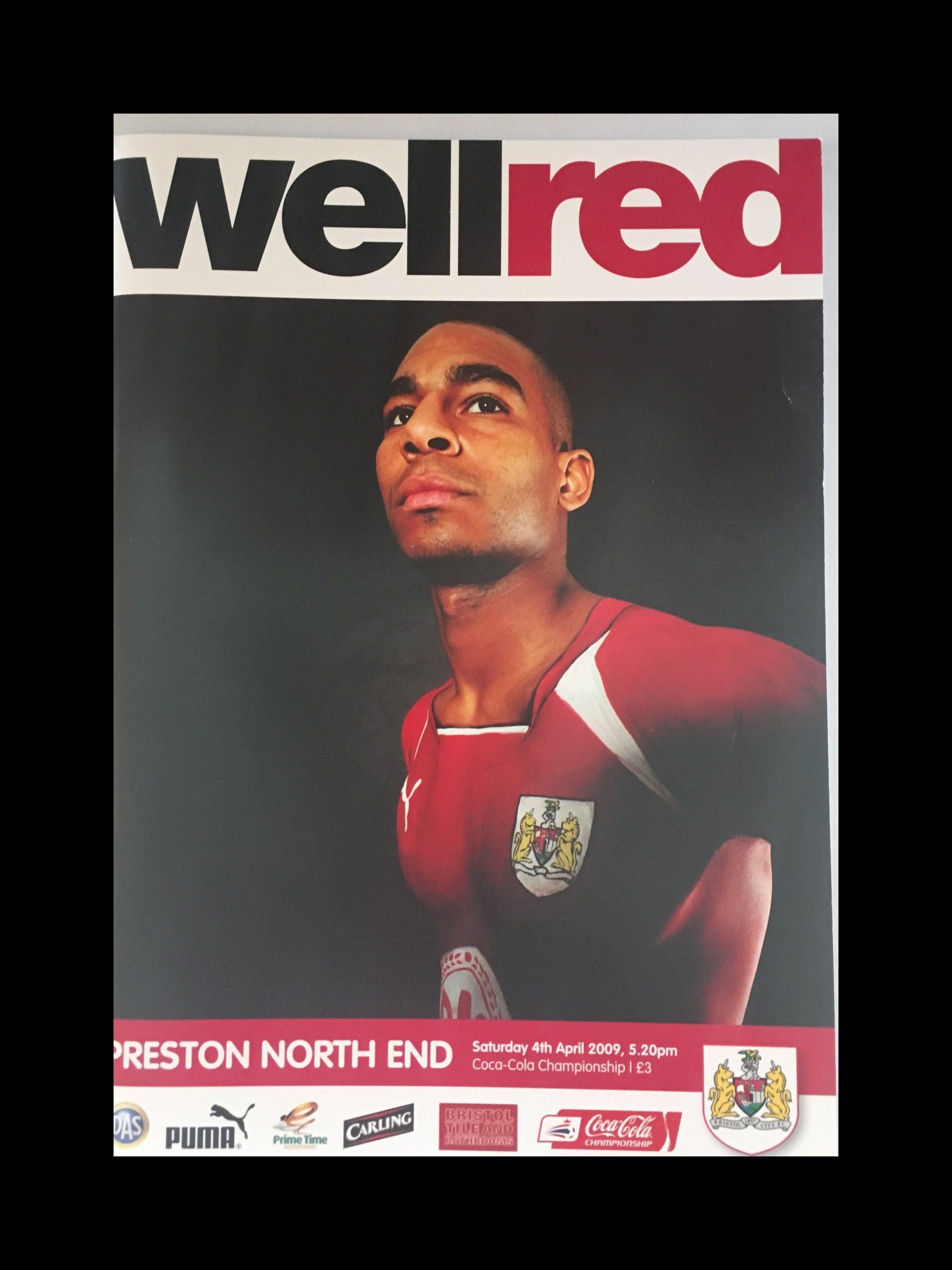 Bristol City v Preston North End 04-04-2009 Programme