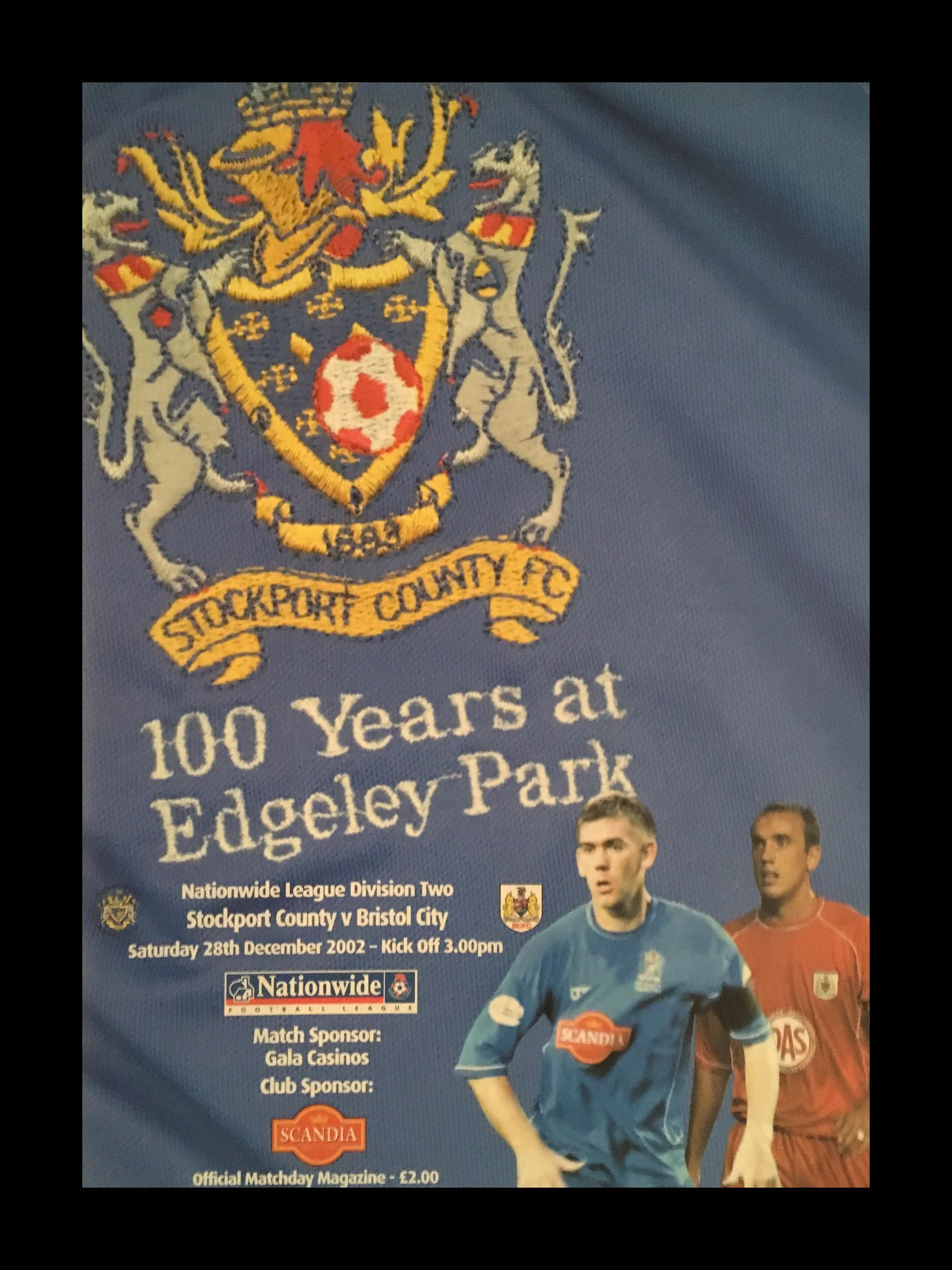 Stockport County v Bristol City 28-12-2002 Programme