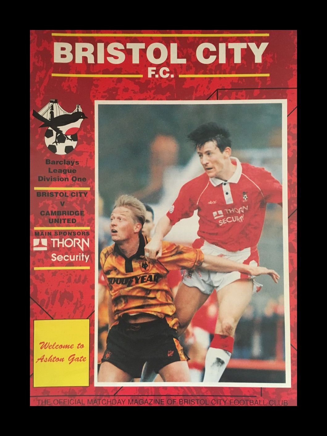 Bristol City v Cambridge United 24-04-1993 Programme