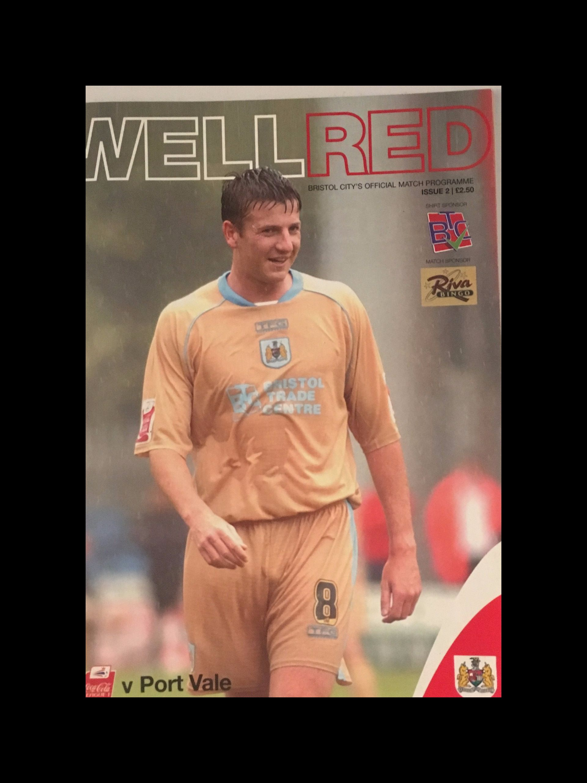 Bristol City v Port Vale 20-08-2005 Programme