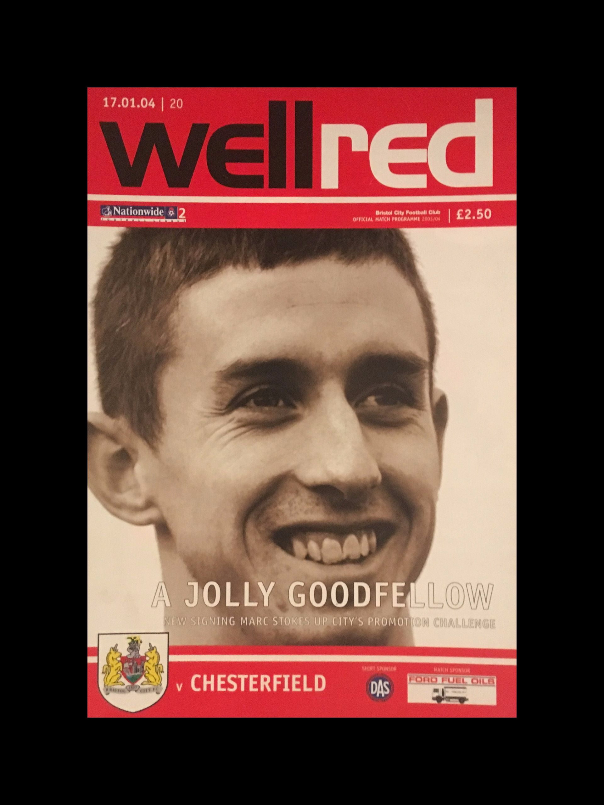 Bristol City v Chesterfield 17-01-2004 Programme