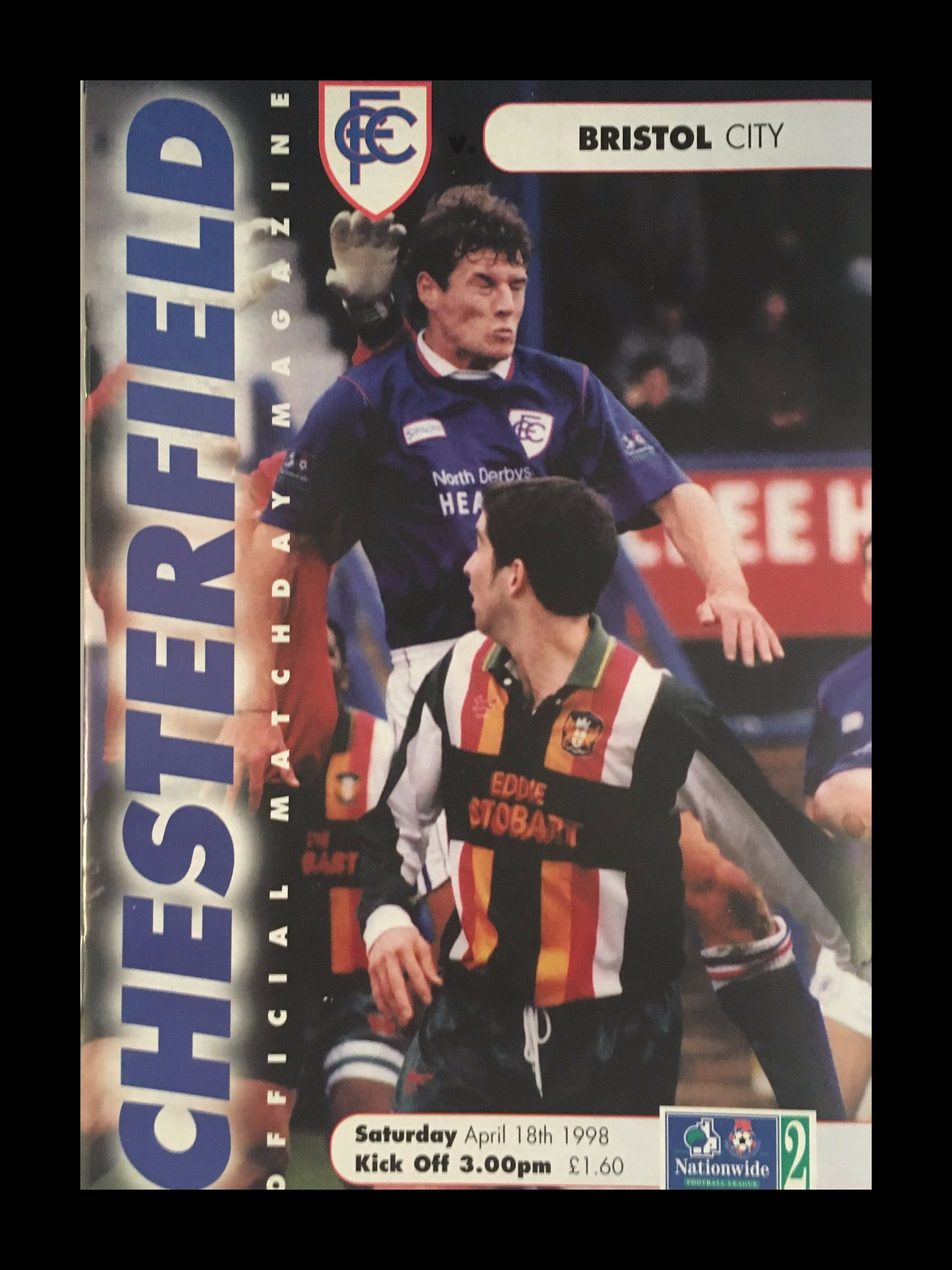 Chesterfield v Bristol City 18-04-1998 Programme