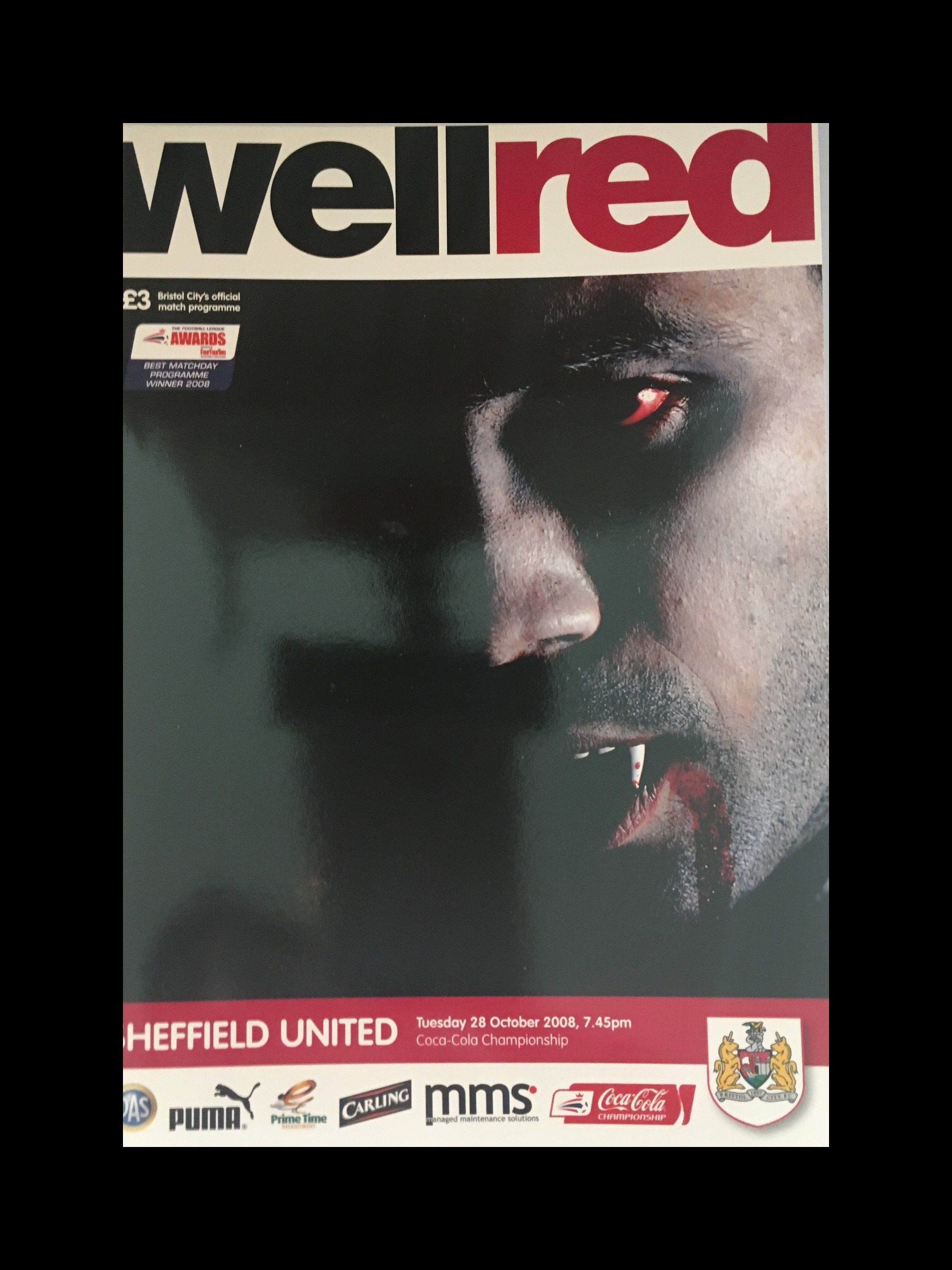 Bristol City v Sheffield United 16-08-2008 Programme