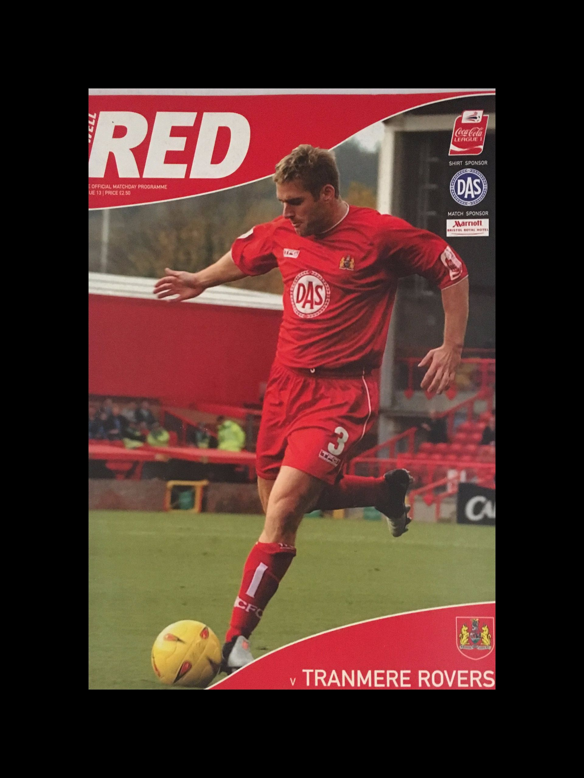 Bristol City v Tranmere Rovers 09-11-2004 Programme