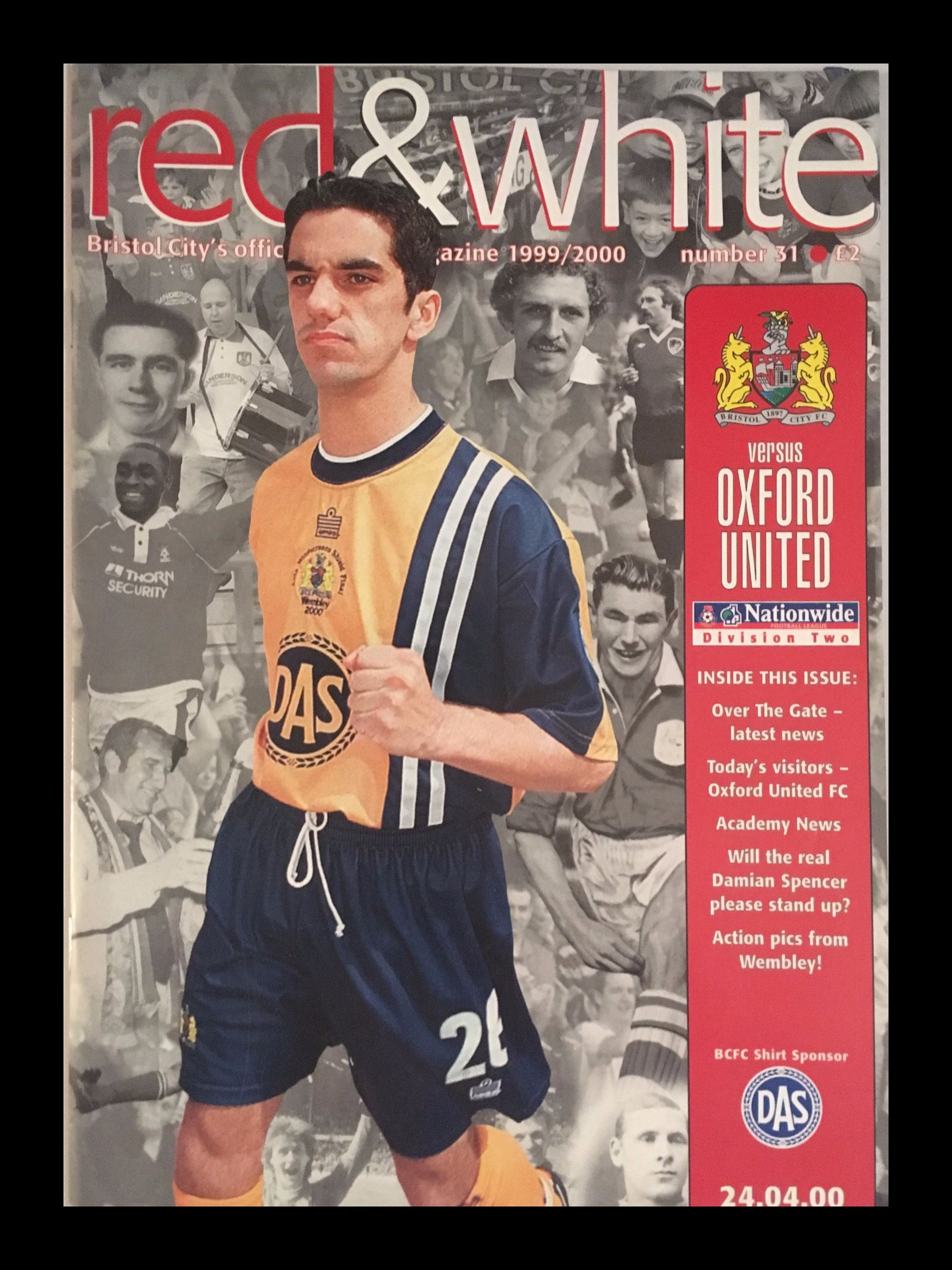 Bristol City v Oxford United 24-04-2000 Programme