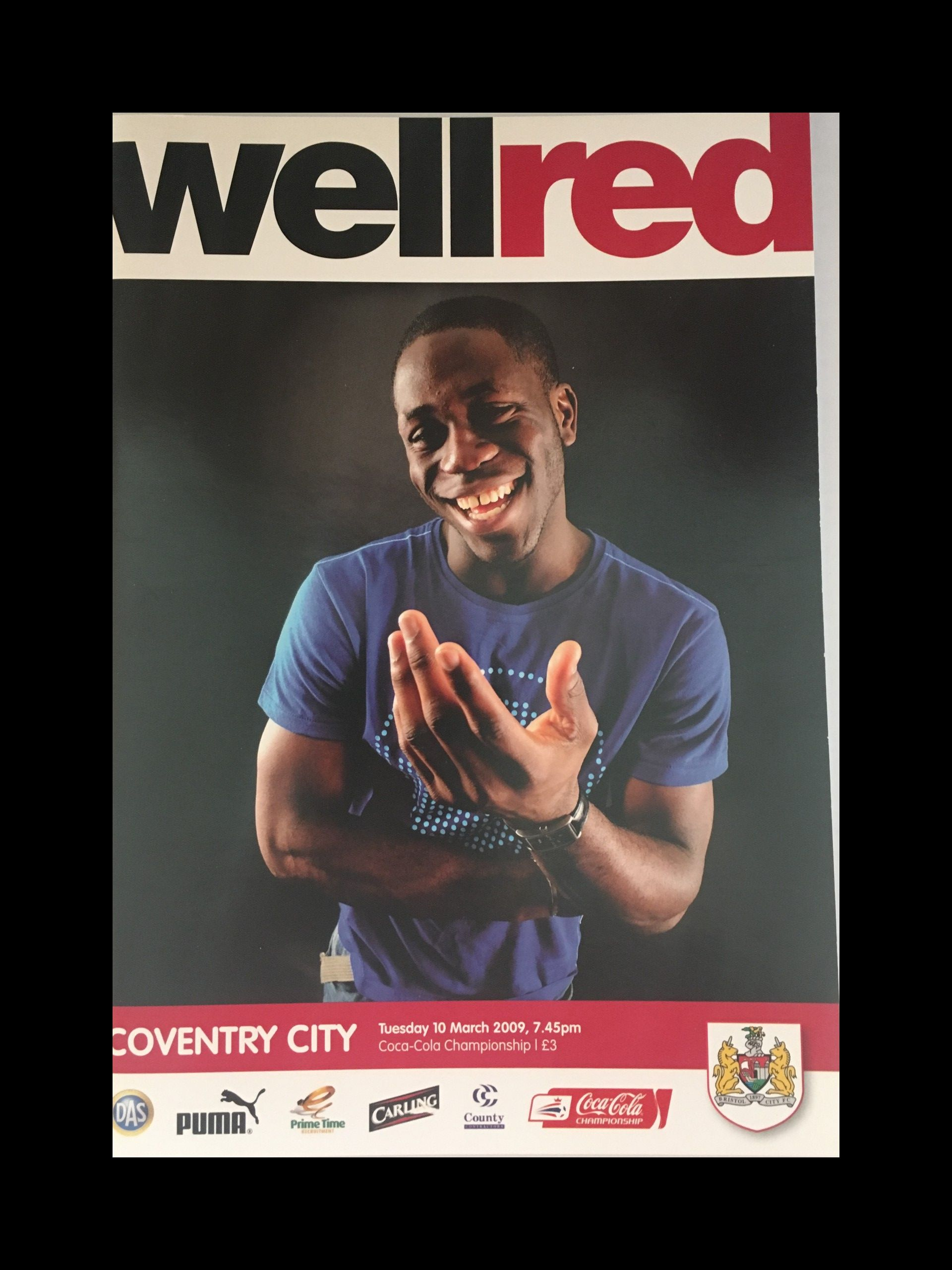 Bristol City v Coventry City 10-03-2009 Programme