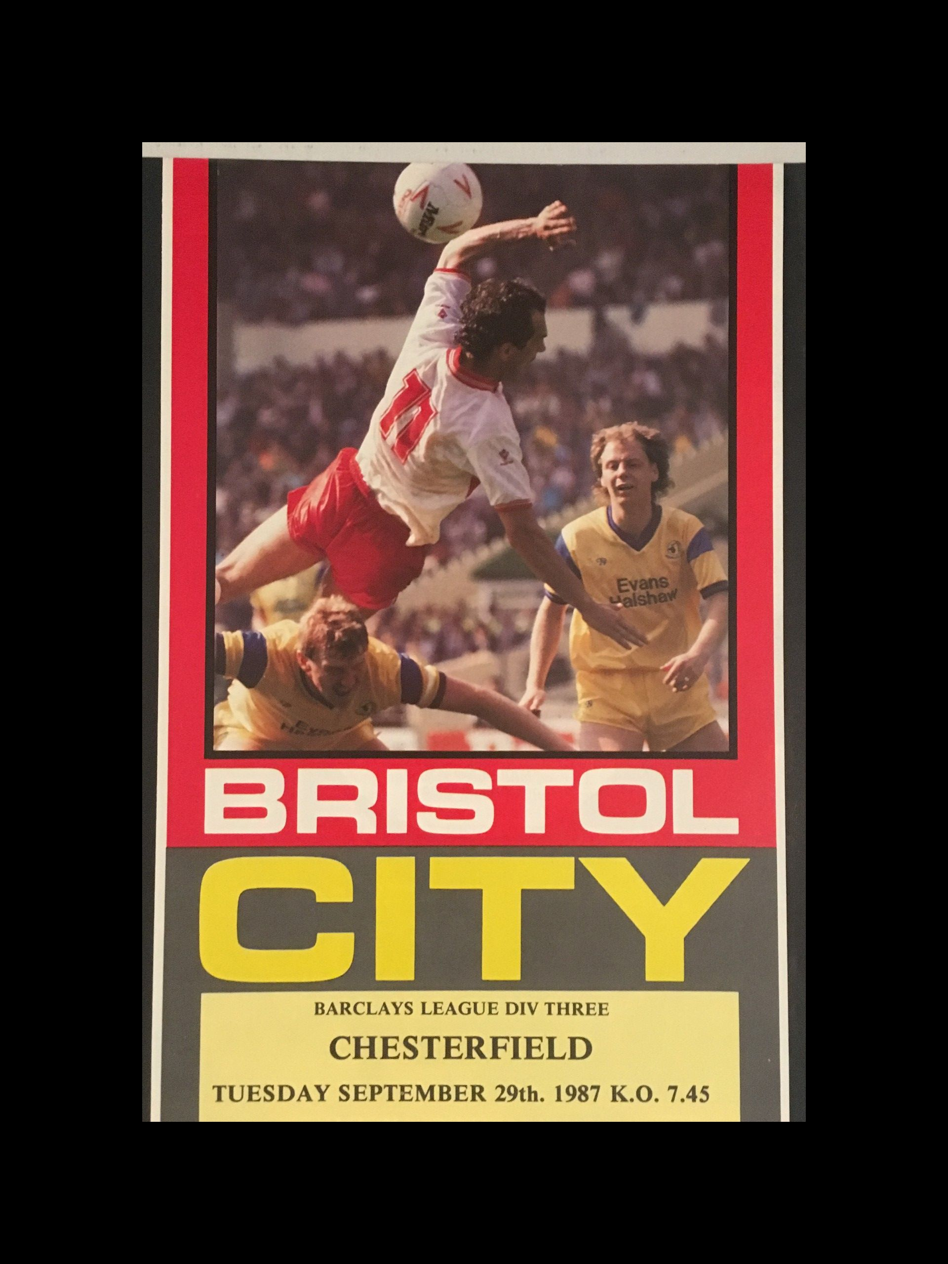 Bristol City v Chesterfield 29-09-1987 Programme