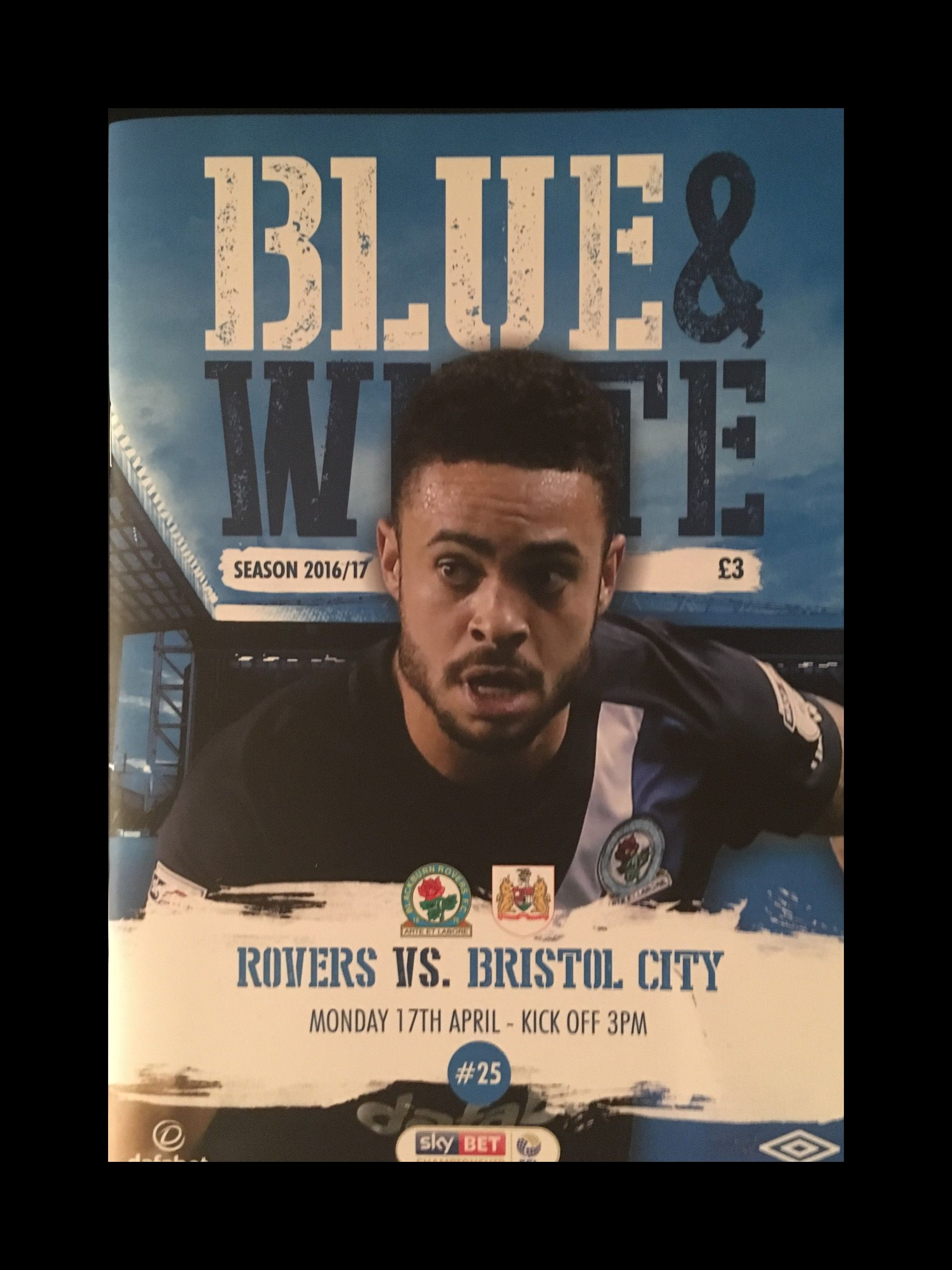 Blackburn Rovers v Bristol City 17-04-17 Programme