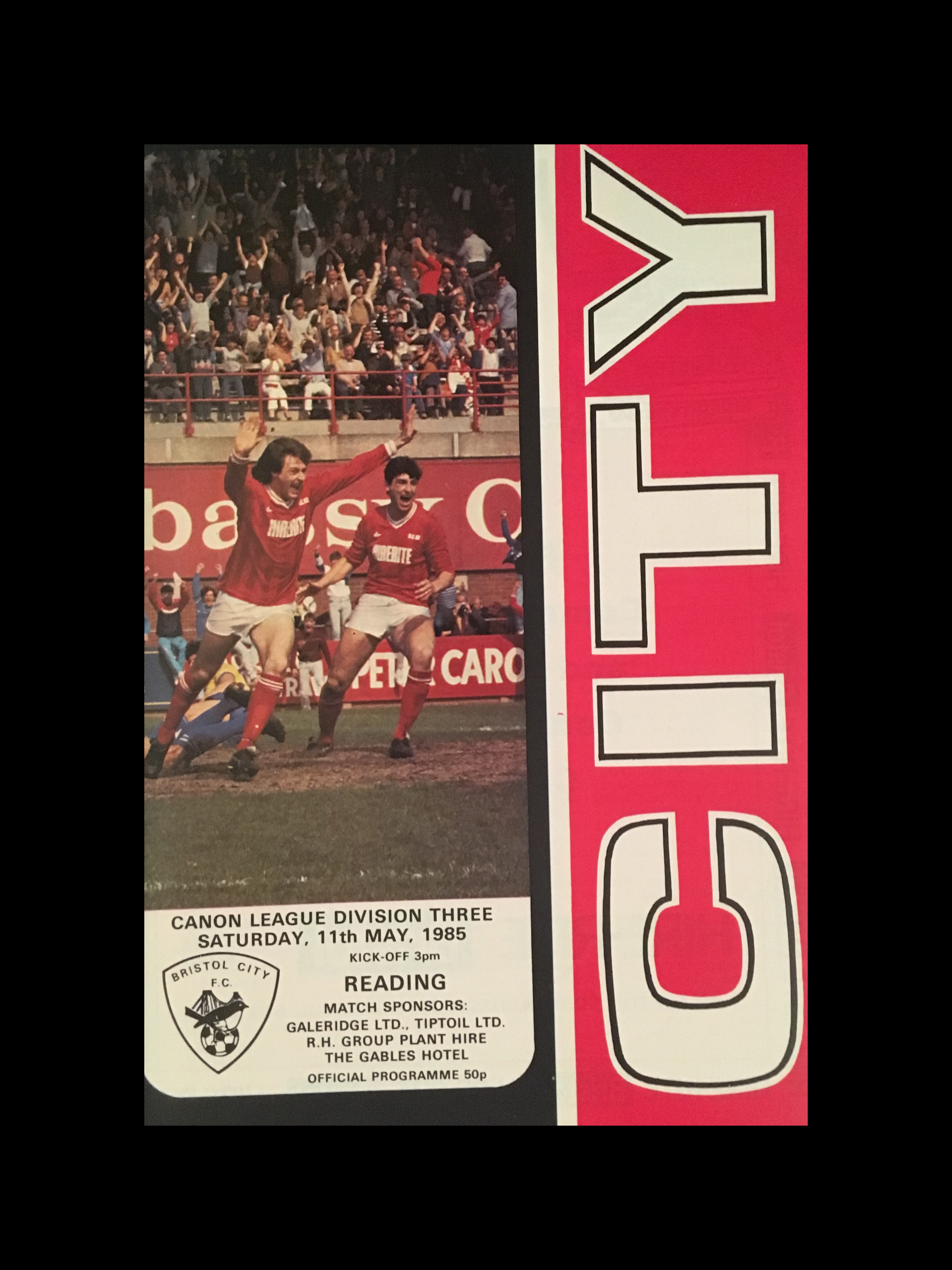 Bristol City v Reading 11-05-85 Programme