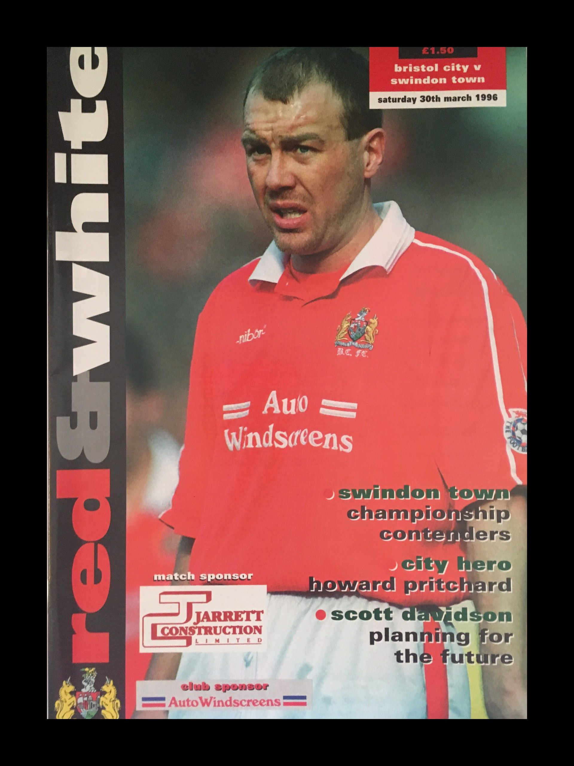 Bristol City v Swindon Town 30-03-1996 Programme