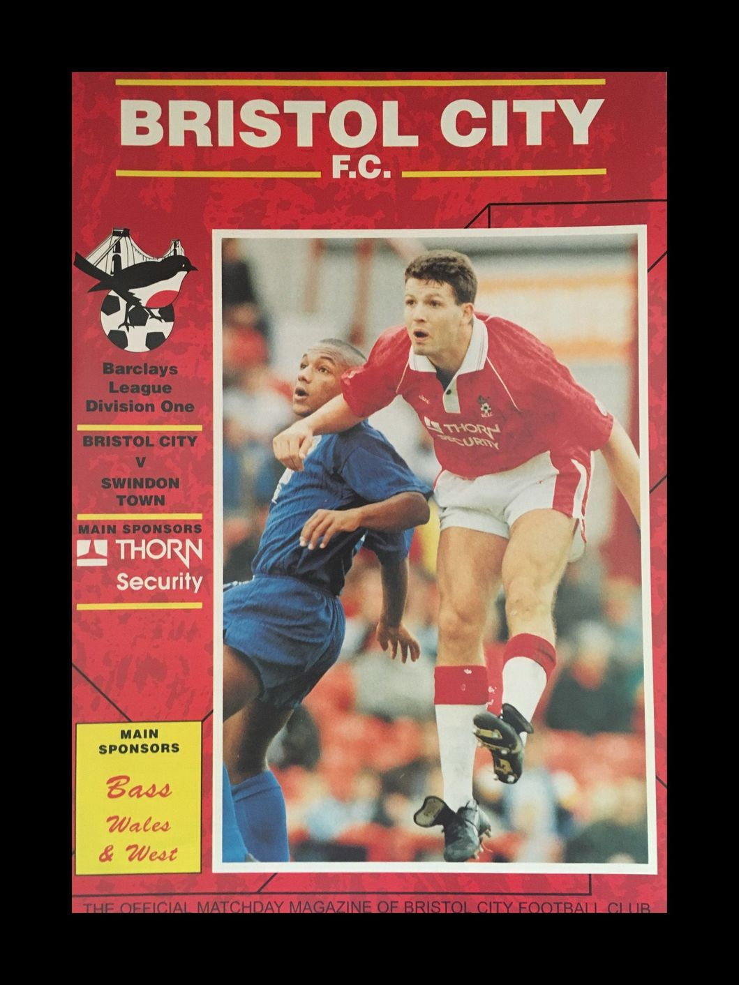 Bristol City v Swindon Town 21-11-1992 Programme