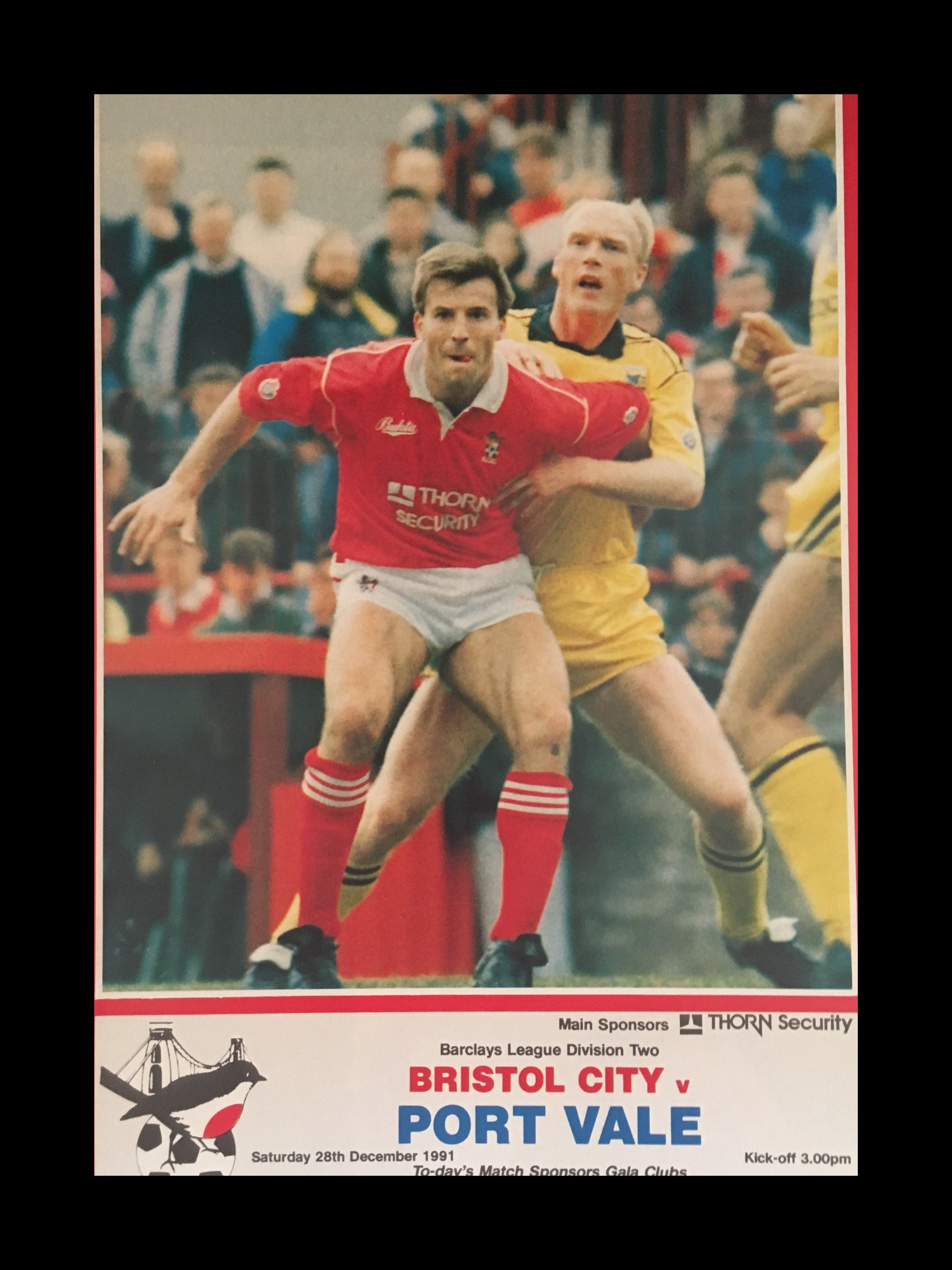 Bristol City v Port Vale 28-12-1991 Programme