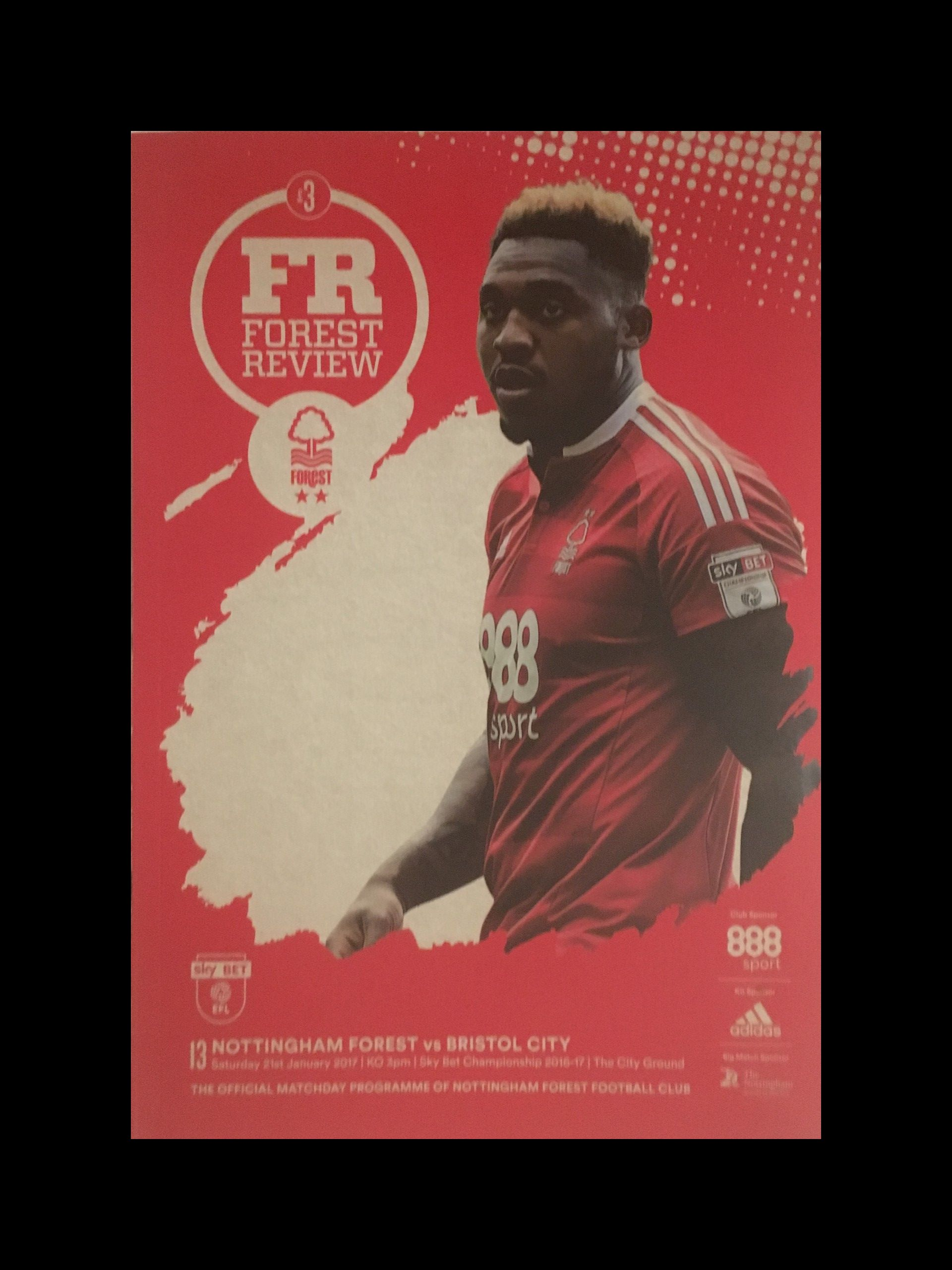 Nottingham Forest v Bristol City 21-01-17 Programme