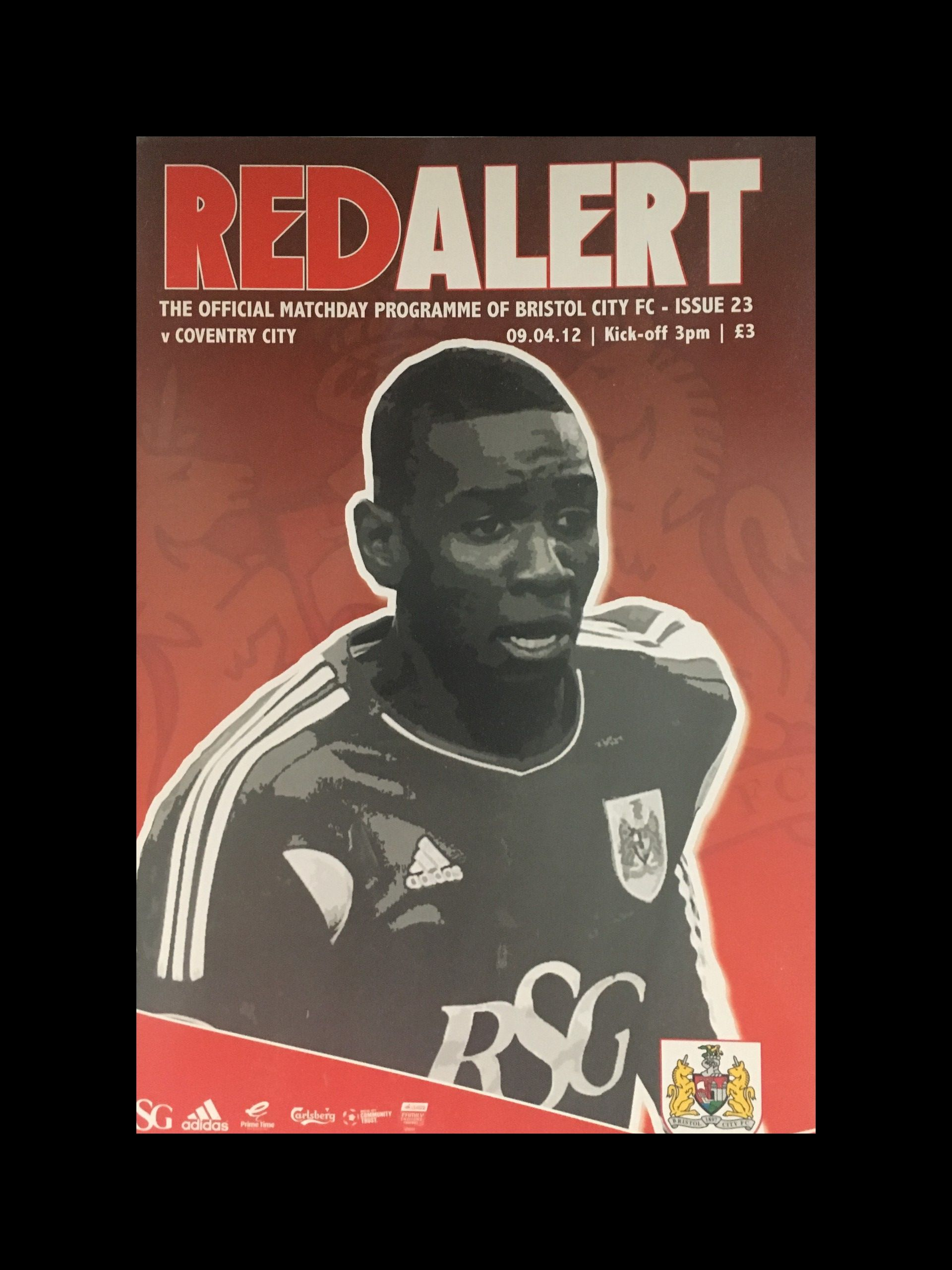Bristol City v Coventry City 09-04-2012 Programme