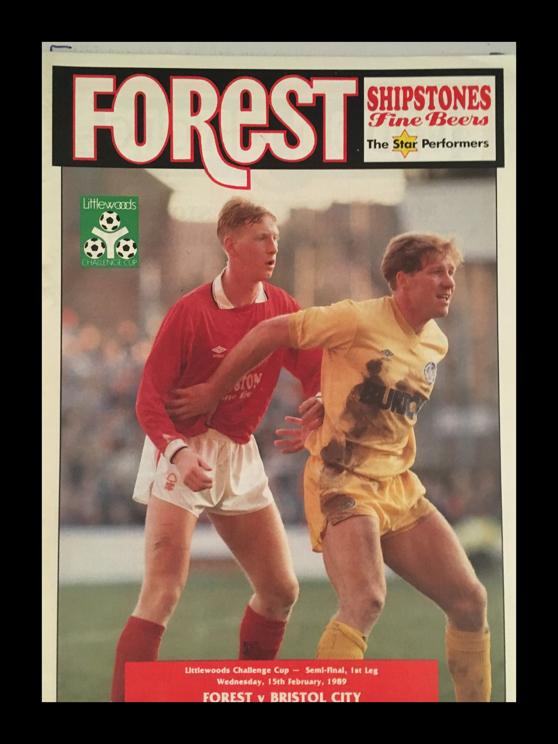 Nottingham Forest v Bristol City 15-02-1989 Programme